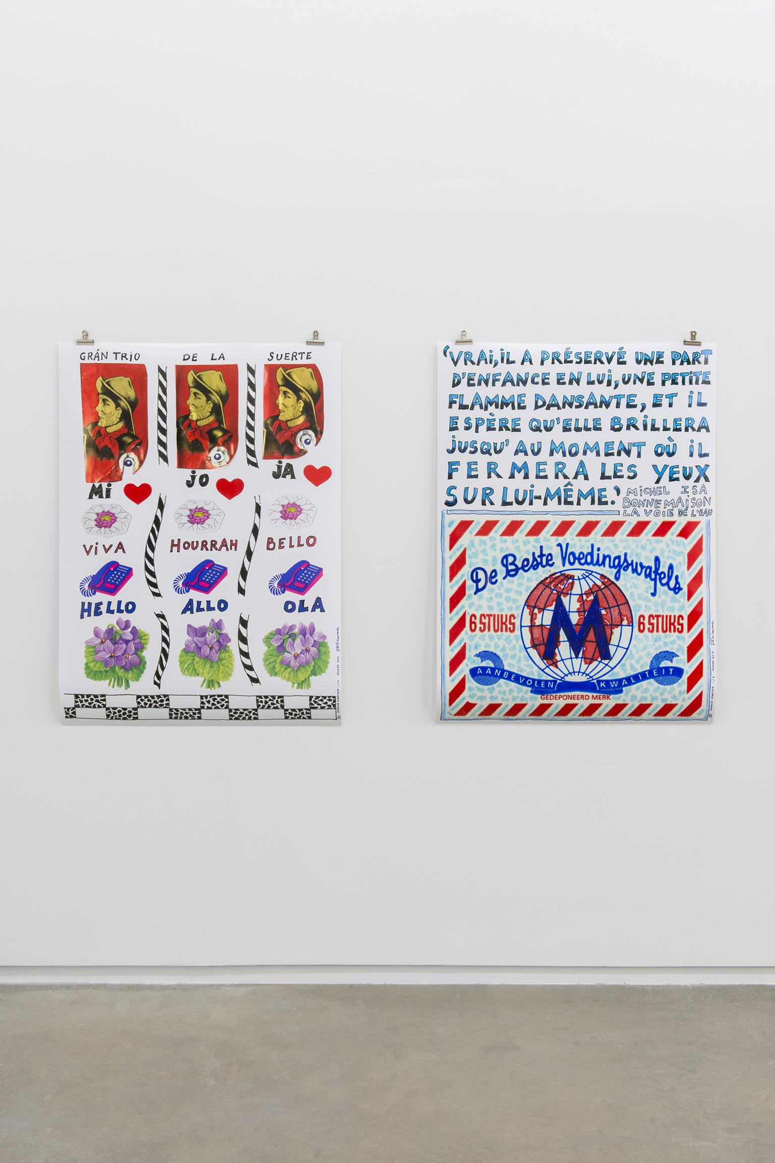 Joëlle de La Casinière, Le Tombeau pour Michel VI, VII, 2013, poster prints, each 46 x 33 in. (116 x 84 cm) by