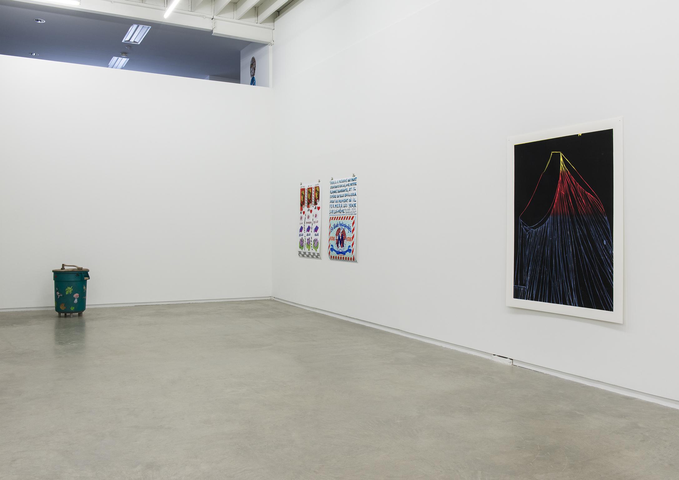 Andrea Büttner, Joëlle de La Casinière, Gareth Moore, installation view, 2013 by
