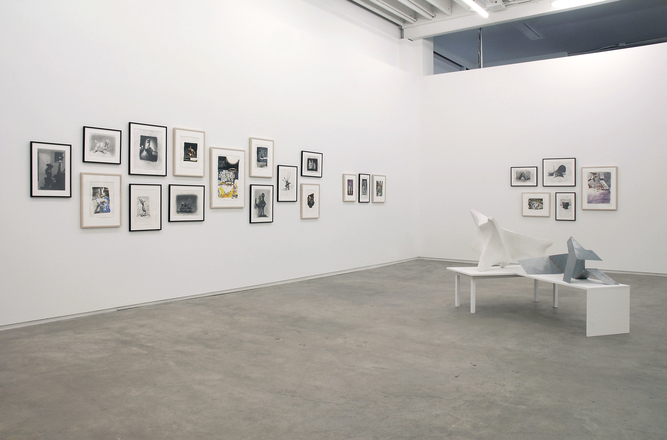 Roy Kiyooka, Damian Moppett, Jerry Pethick, Ian Wallace, installation view, Process as Work, Catriona Jeffries, 2008 by