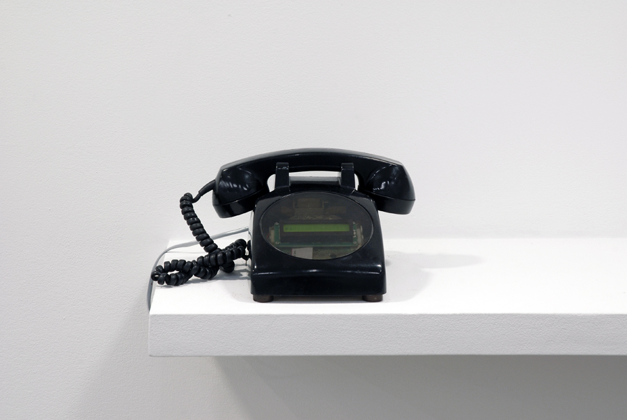 Germaine Koh, Call, 2006, intervention using vintage telephone modified with programmable microcontroller and custom circuitry, 5 × 9 × 9 in. (13 x 23 x 23 cm)  ​ by