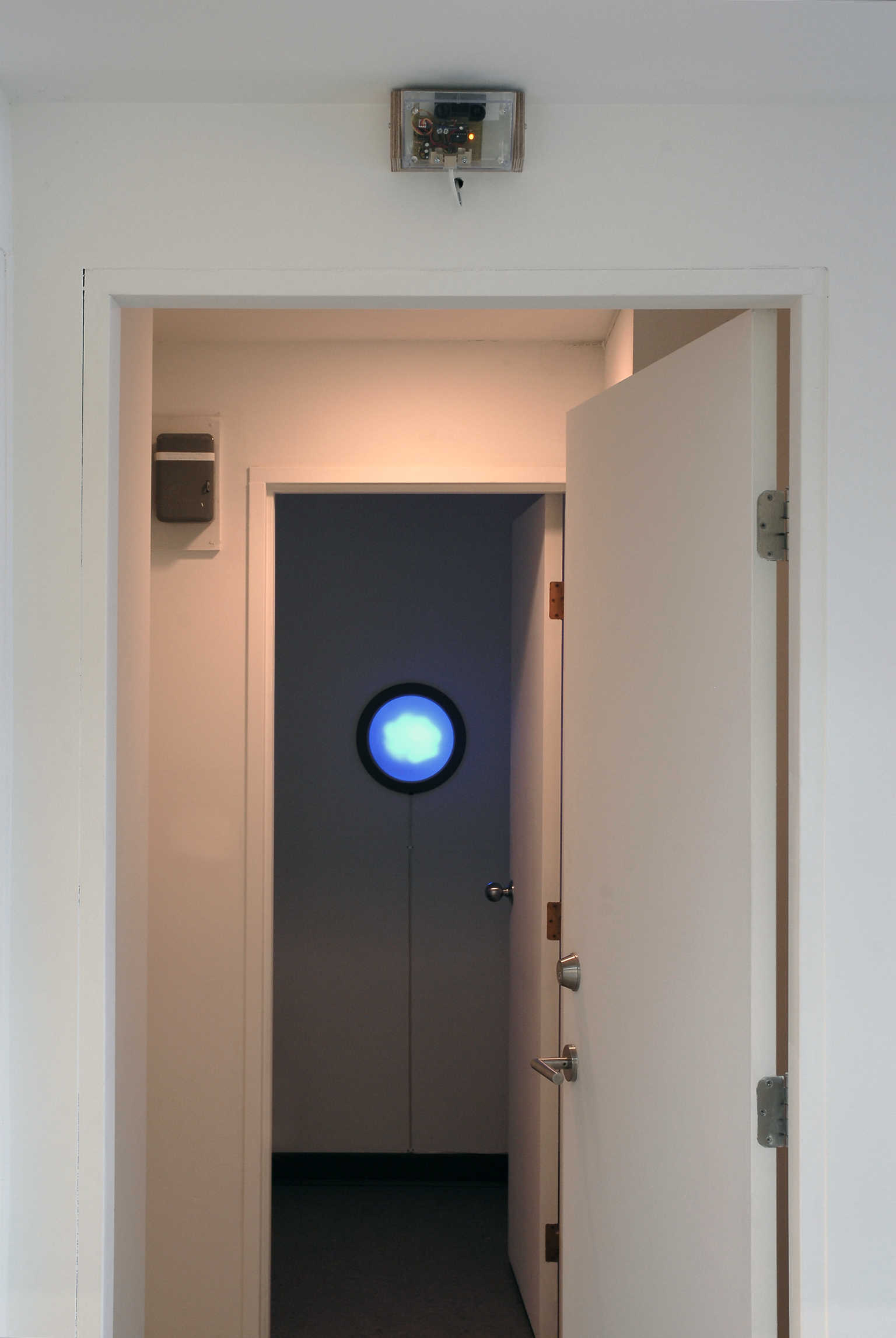 ​Germaine Koh, Volume (Traffic), 2008, modified household fixture with LEDs responding to traffic conditions, 13 × 13 × 5 in. (33 x 33 x 13 cm) by
