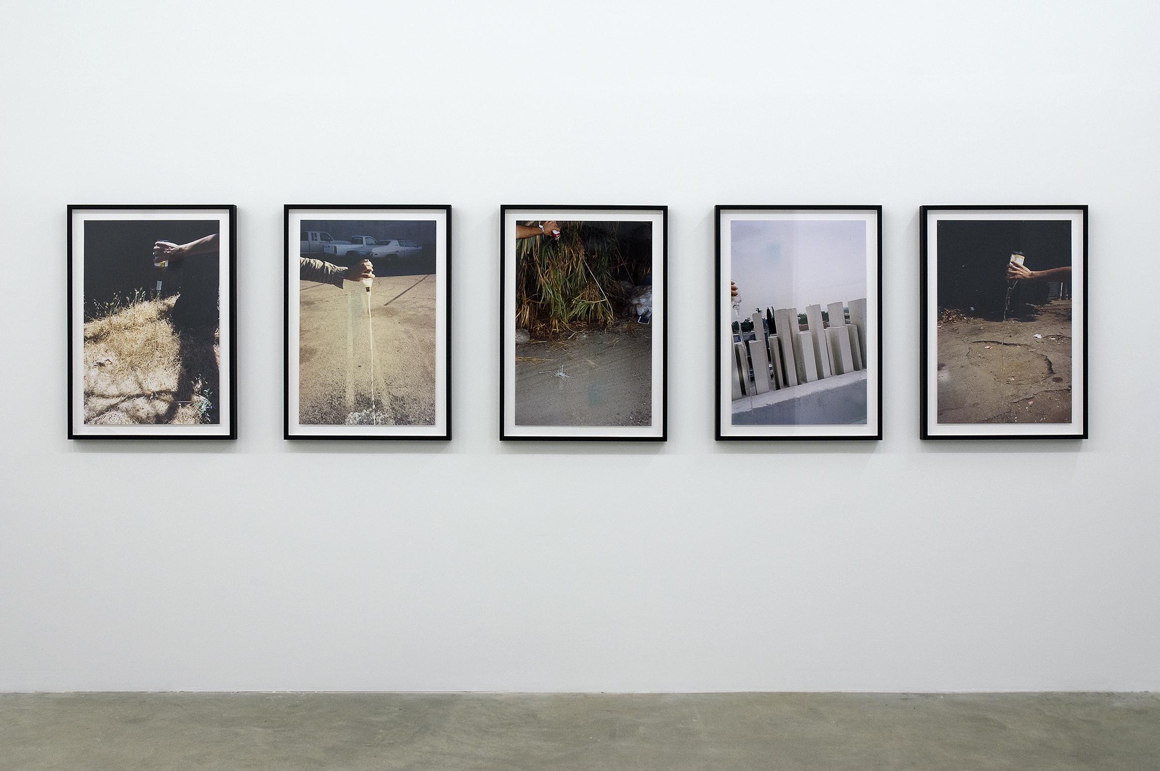 Sam Durant, Empty #11, Empty #22, Empty #16, Empty #5, Empty #20, 1993, c-prints, each 30 x 20 in. (76 x 51 cm) by