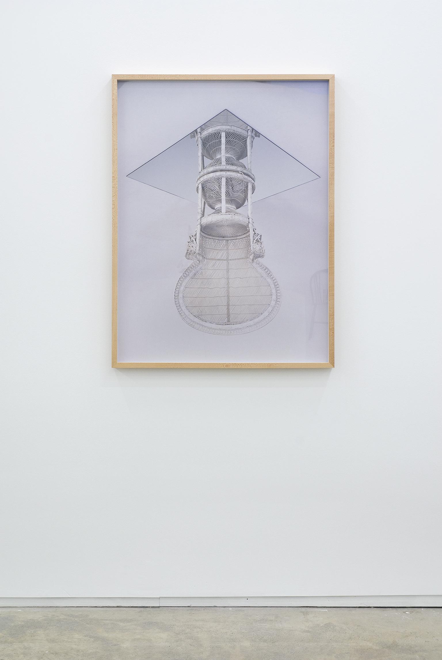 Sam Durant, Huey Newton Chair, 2002, c-print, 40 x 30 in. (102 x 76 cm) by