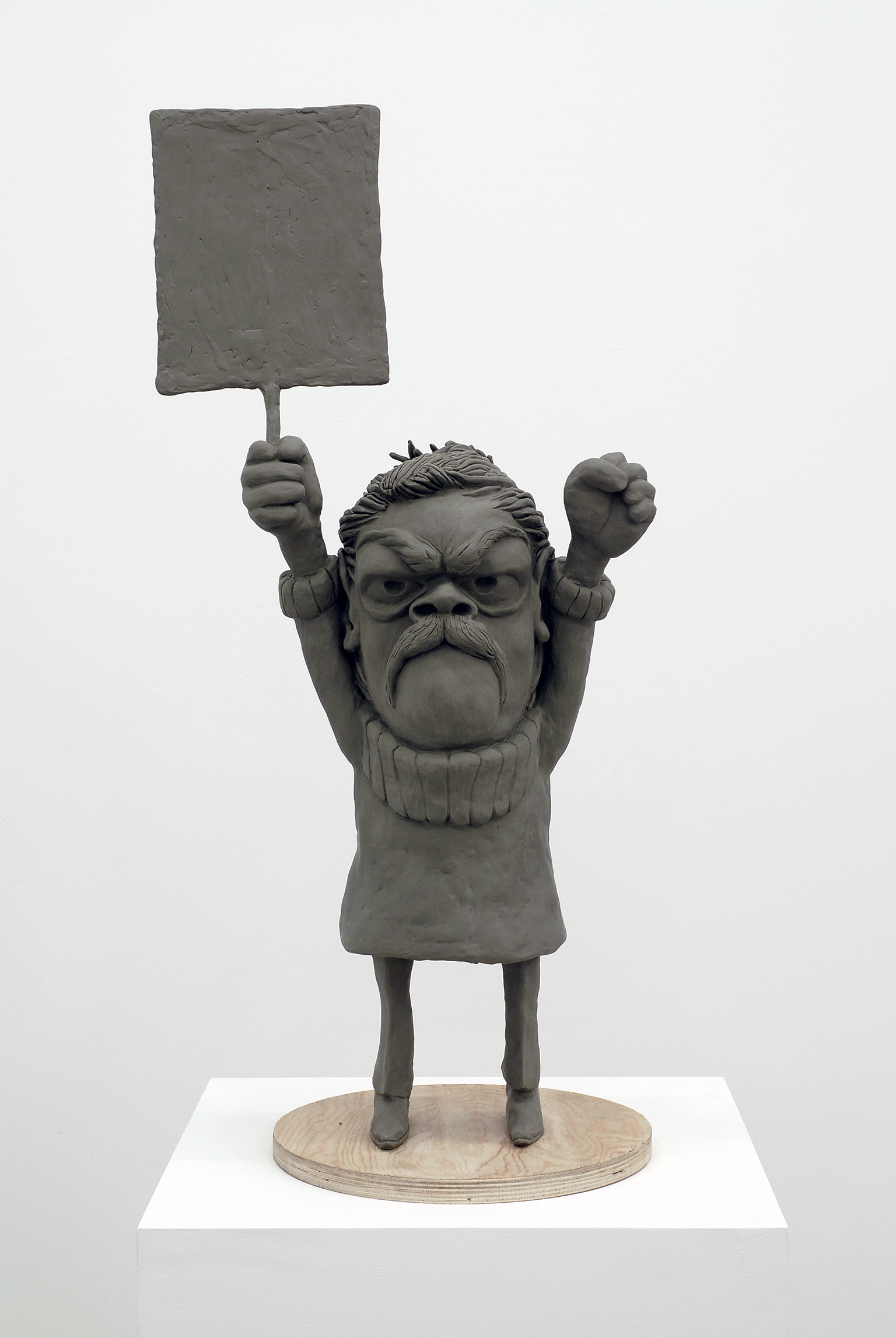 ​Alex Morrison, Proposal for a New Monument at Freedom Square, 2007, modelling clay and wood, 32 x 15 x 12 in. (81 x 38 x 30 cm) by