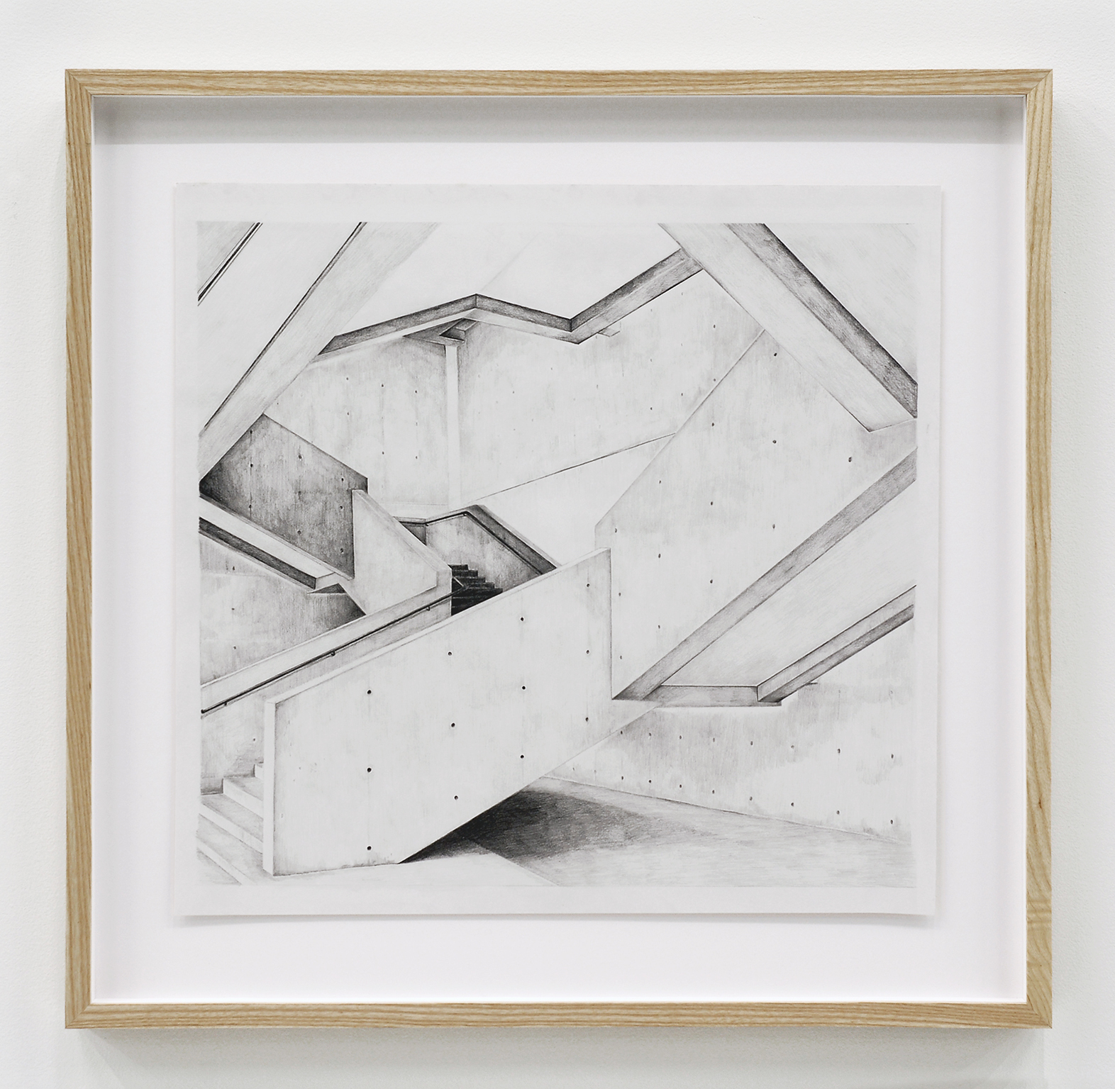 Alex Morrison, The Poetics of Grey (No. 8), 2007, graphite on paper, 23 x 24 in. (59 x 61 cm)  ​ by