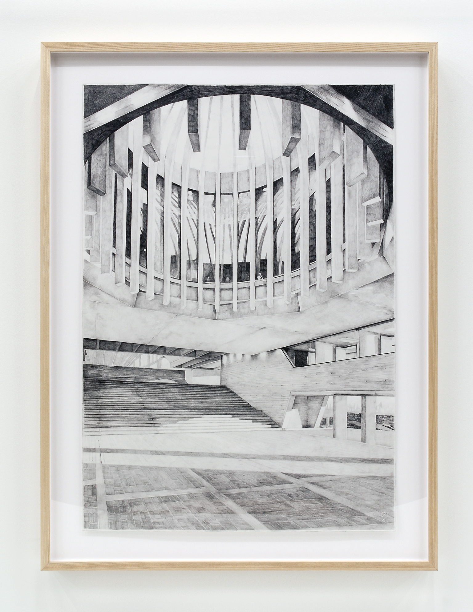 Alex Morrison, The Poetics of Grey (No. 12), 2007, graphite on paper, 46 x 35 in. (118 x 88 cm) by