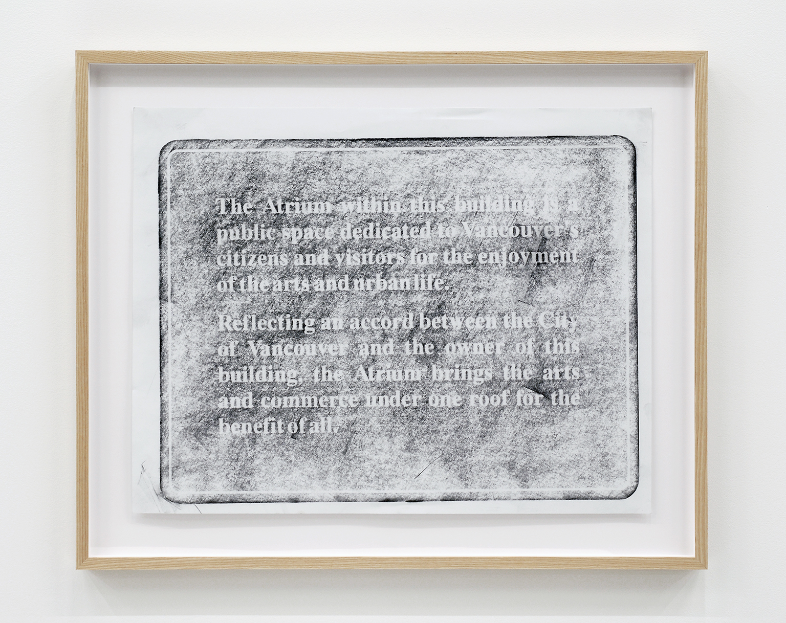 ​Alex Morrison, The Poetics of Grey (No. 14), 2007, graphite on paper, 26 x 32 in. (65 x 80 cm) by