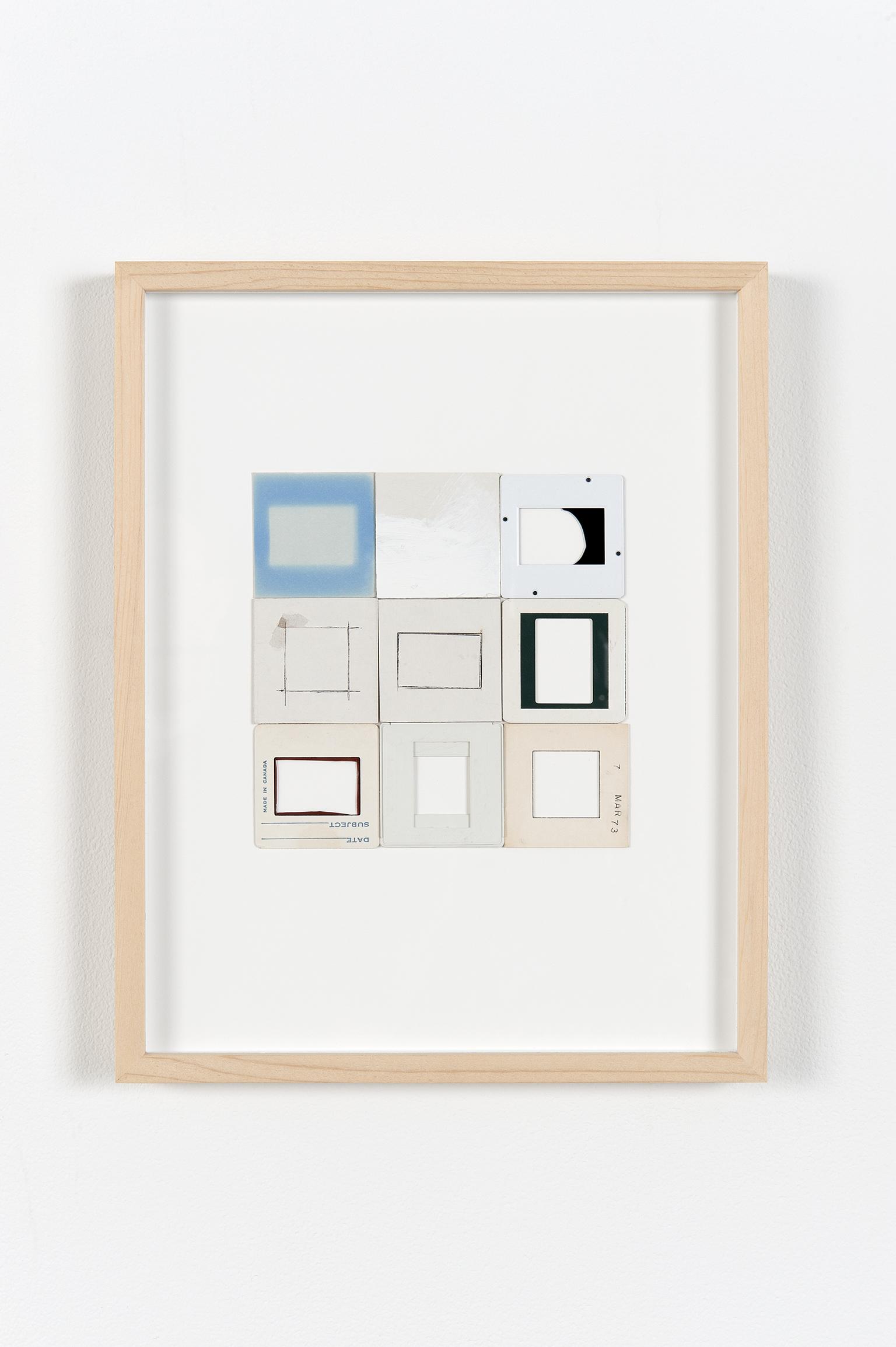 Robert Kleyn, 9 Out of 12 Slides, 1973, slide mounts and dummy slides on cardboard, 13 x 10 in. (33 x 26 cm)   by