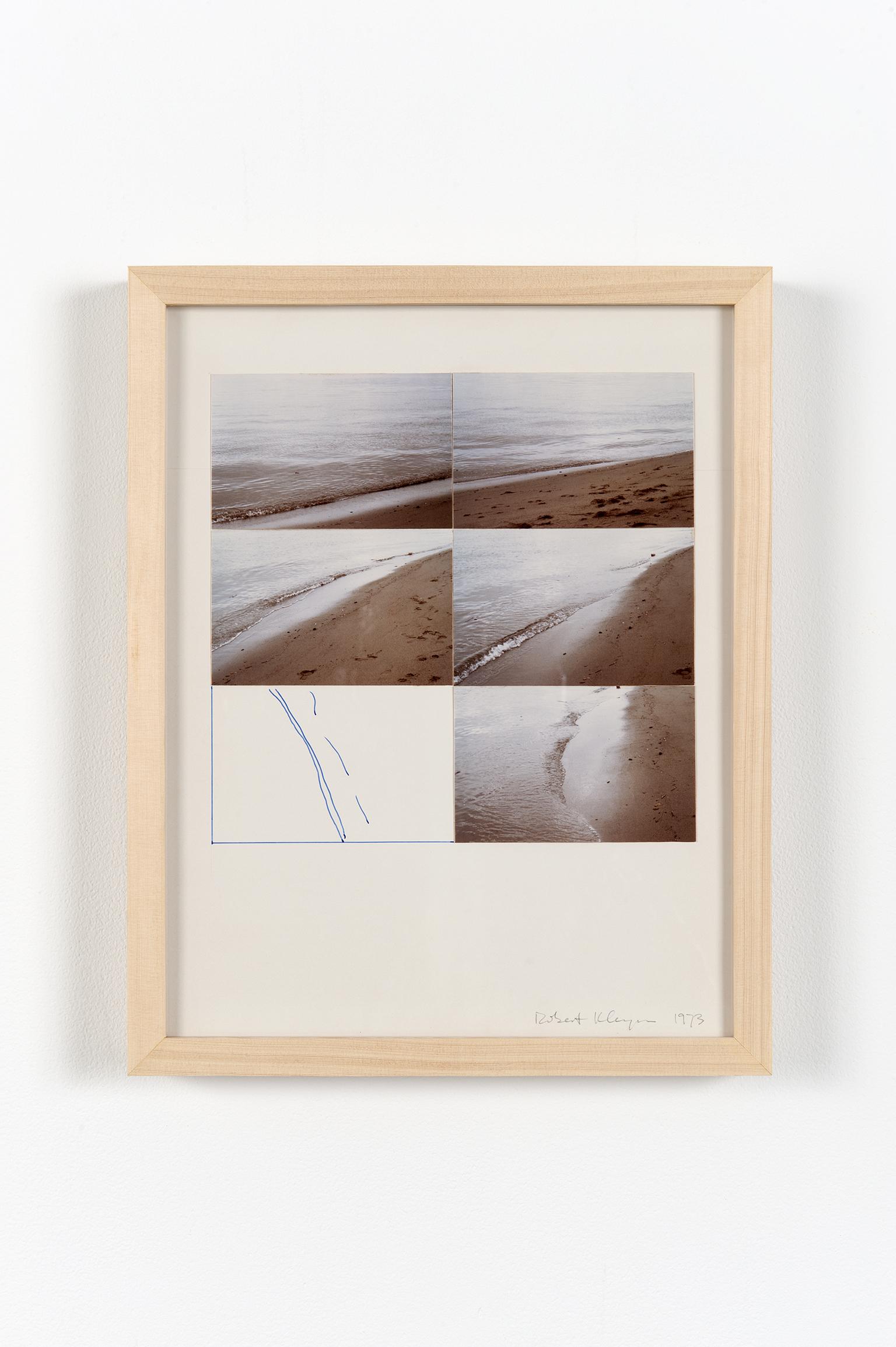 Robert Kleyn, Shoreline, 1973, photographs and ink on cardstock, 15 x 12 in. (39 x 31 cm) by