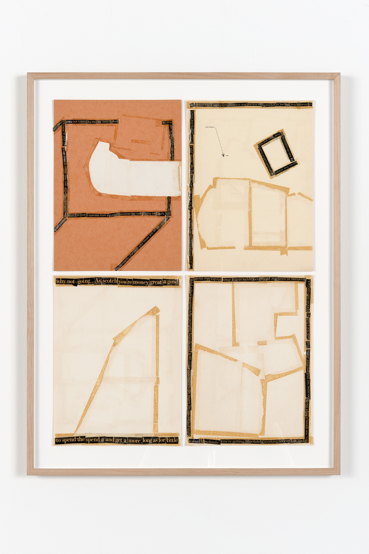 Robert Kleyn, Untitled, 1972, magazine and tape on cardstock, 28 x 22 in. (71 x 56 cm)   by