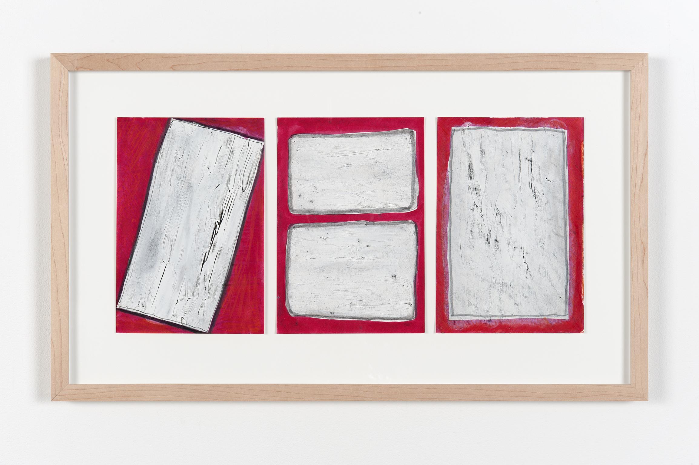 Robert Kleyn, Fields, 1979, graphite and gouache on paper, 16 x 26 in. (39 x 57 cm) by