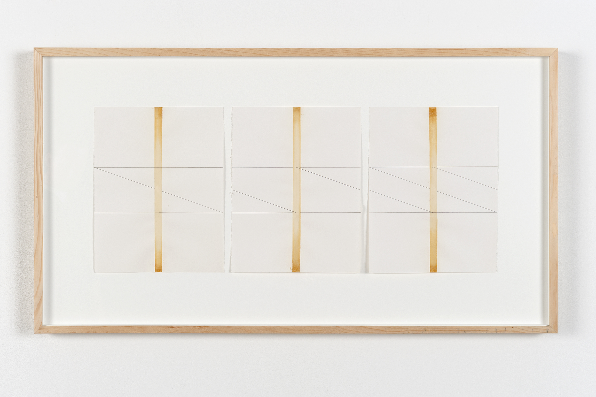 ​Robert Kleyn, Taped Drawings, 1970, transparent tape and pencil on paper, 19 x 35 in. (48 x 88 cm) by