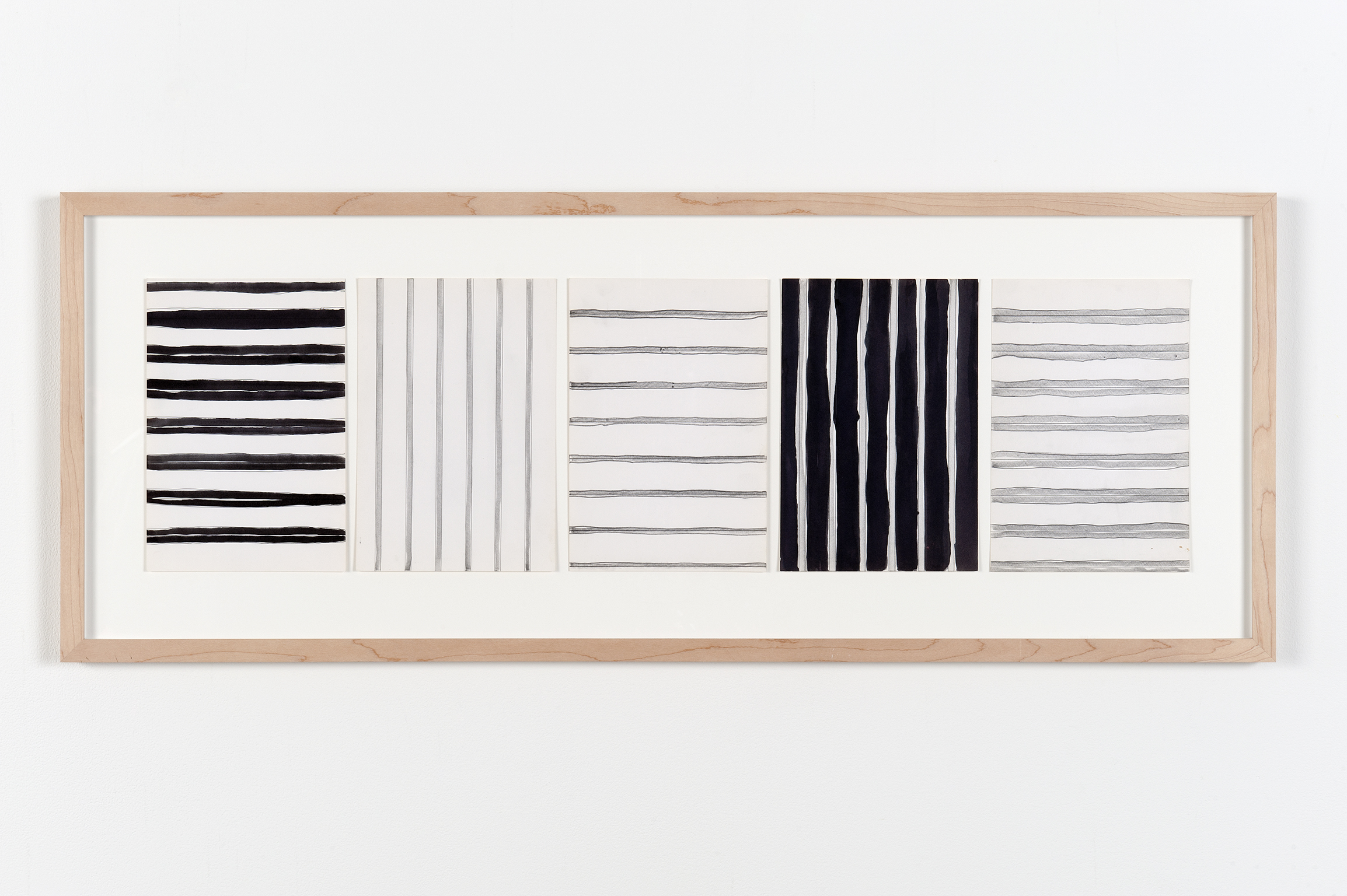 Robert Kleyn, Lines, 1979, india ink and graphite on paper, 16 x 40 in. (39 x 102 cm) by