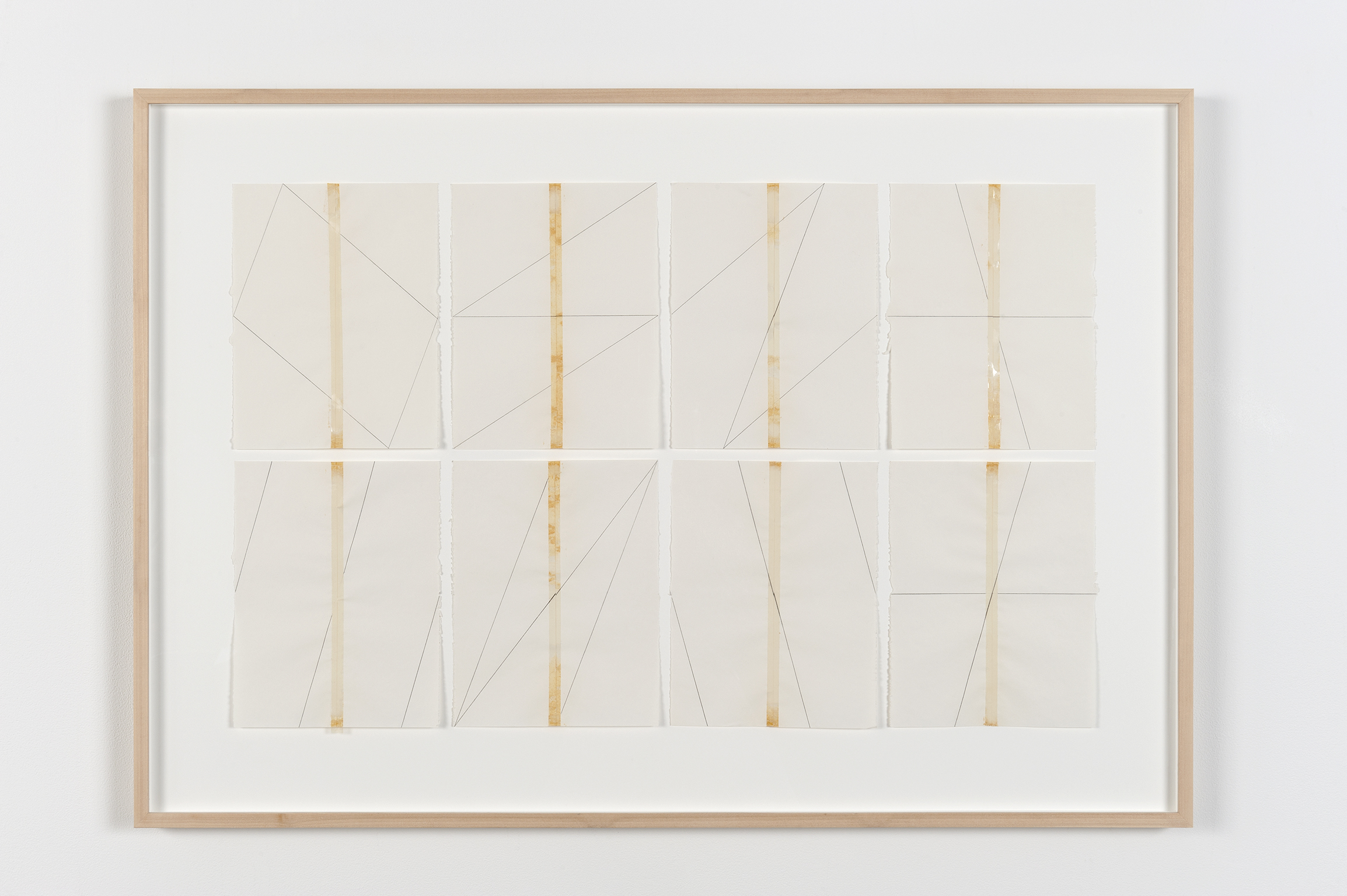 Robert Kleyn, Taped Drawings, 1970, transparent tape and pencil on paper, 30 x 43 in. (76 x 109 cm) by