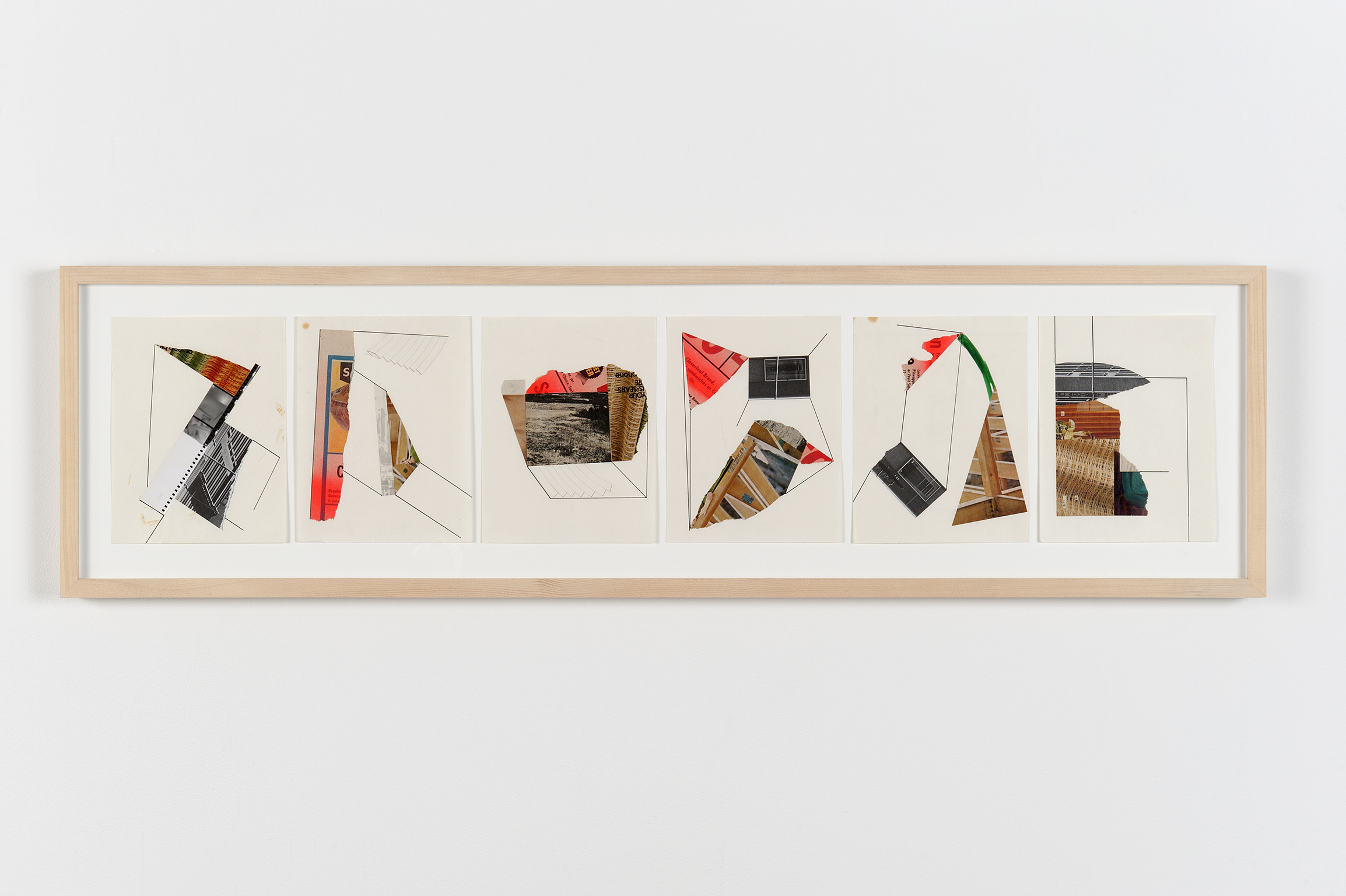 Robert Kleyn, Untitled Collages, 1972, paper, photographs, magazine cut-outs, ink, pencil, spray paint, 13 x 48 in. (33 x 122 cm)   by