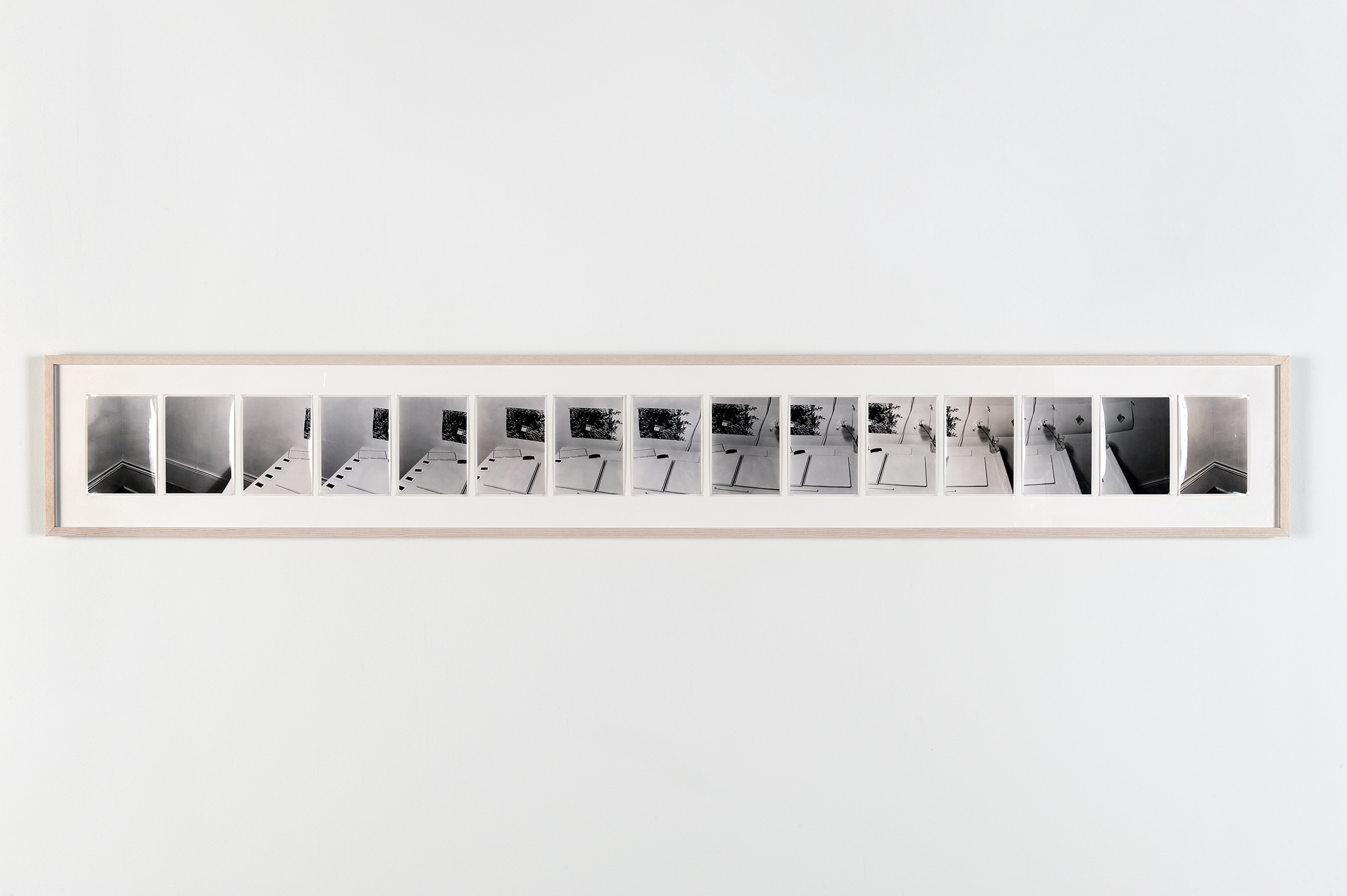 Robert Kleyn, Table Pan, 1974, black and white photographs, 13 x 88 in. (32 x 22 cm)  ​ by