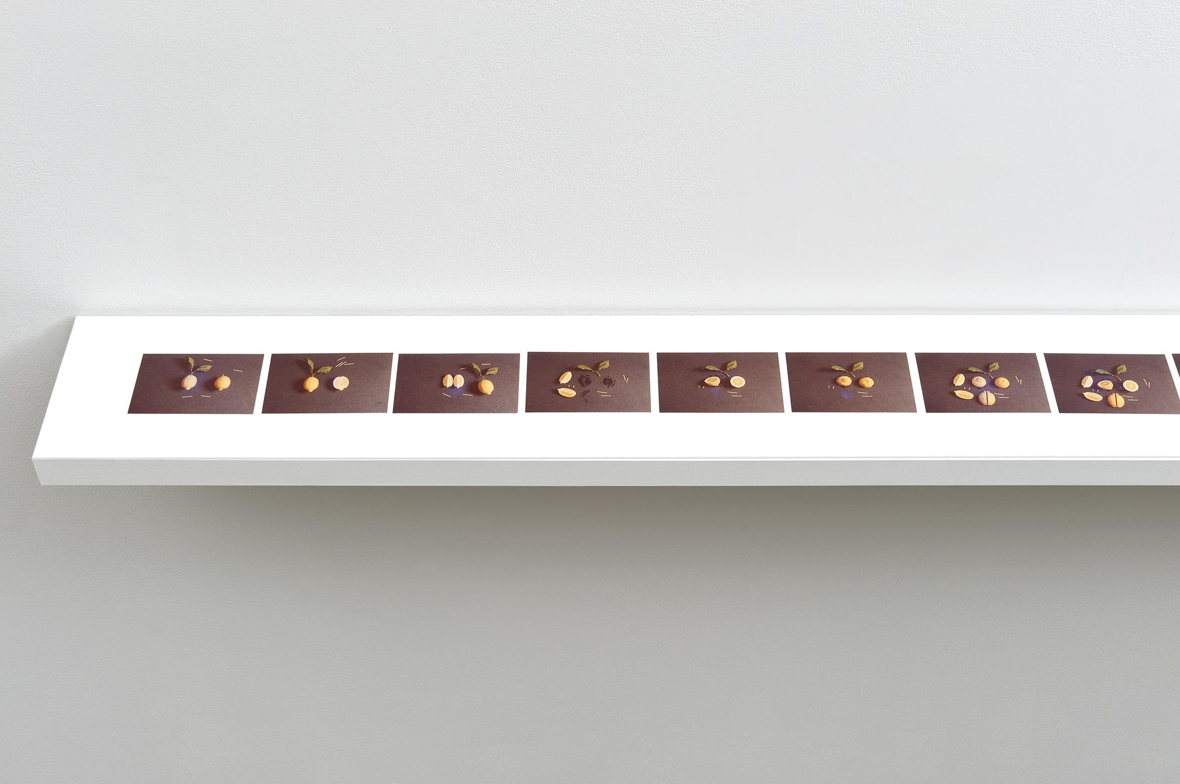 Robert Kleyn, Table with Lemon, 1976, 16 colour photographs, 4 x 5 in. (9 x 12 cm) by