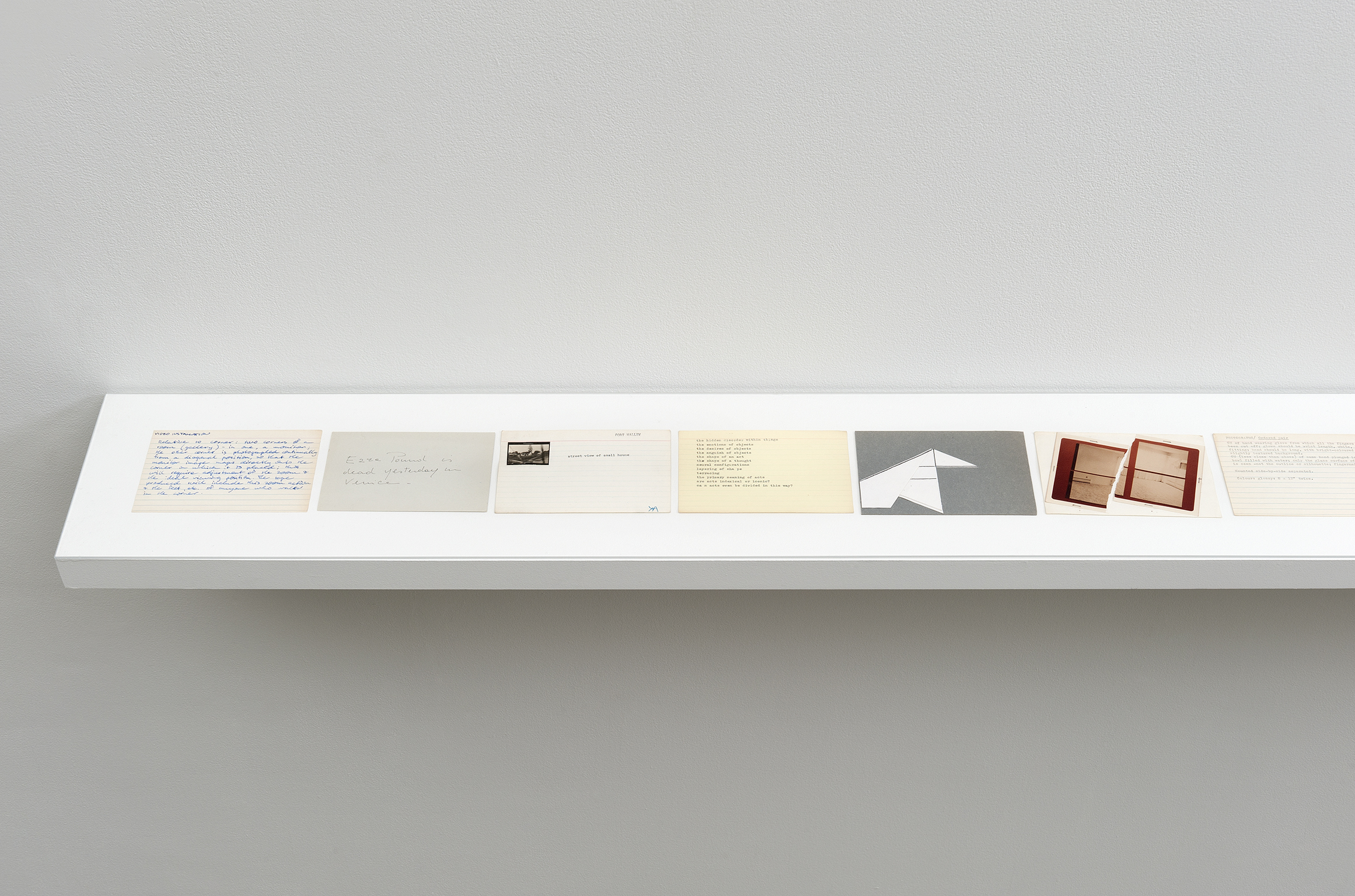 ​Robert Kleyn, Index Cards, 1972–1984, mixed media on paper, dimensions variable by