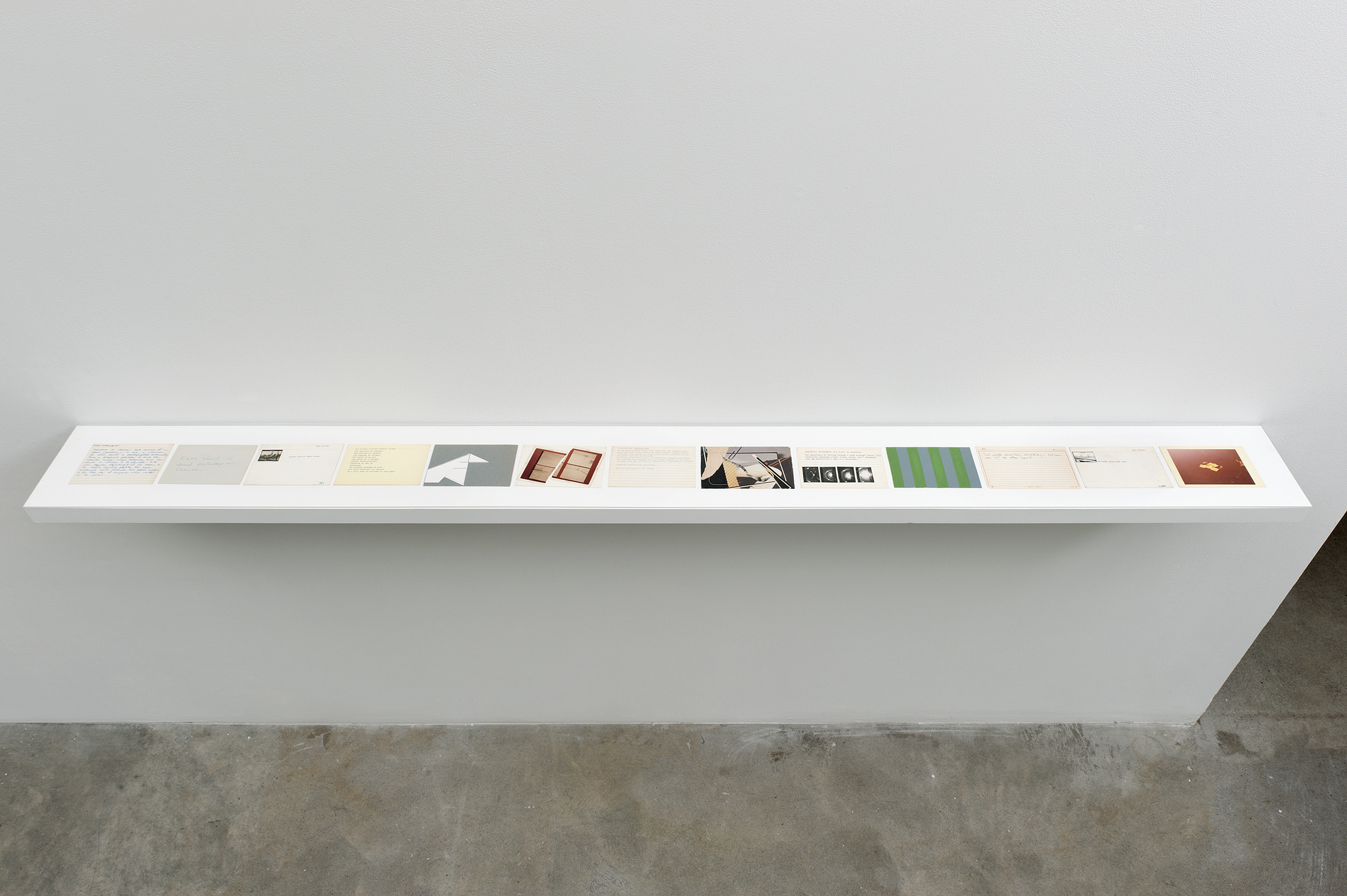 Robert Kleyn, Index Cards, 1972–1984, mixed media on paper, dimensions variable by