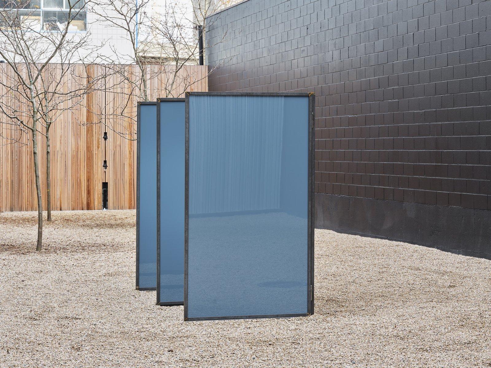 Abbas Akhavan, Trough, 2019, steel, mirrors, 84 x 150 x 48 in. (213 x 380 x 122 cm) by Abbas Akhavan
