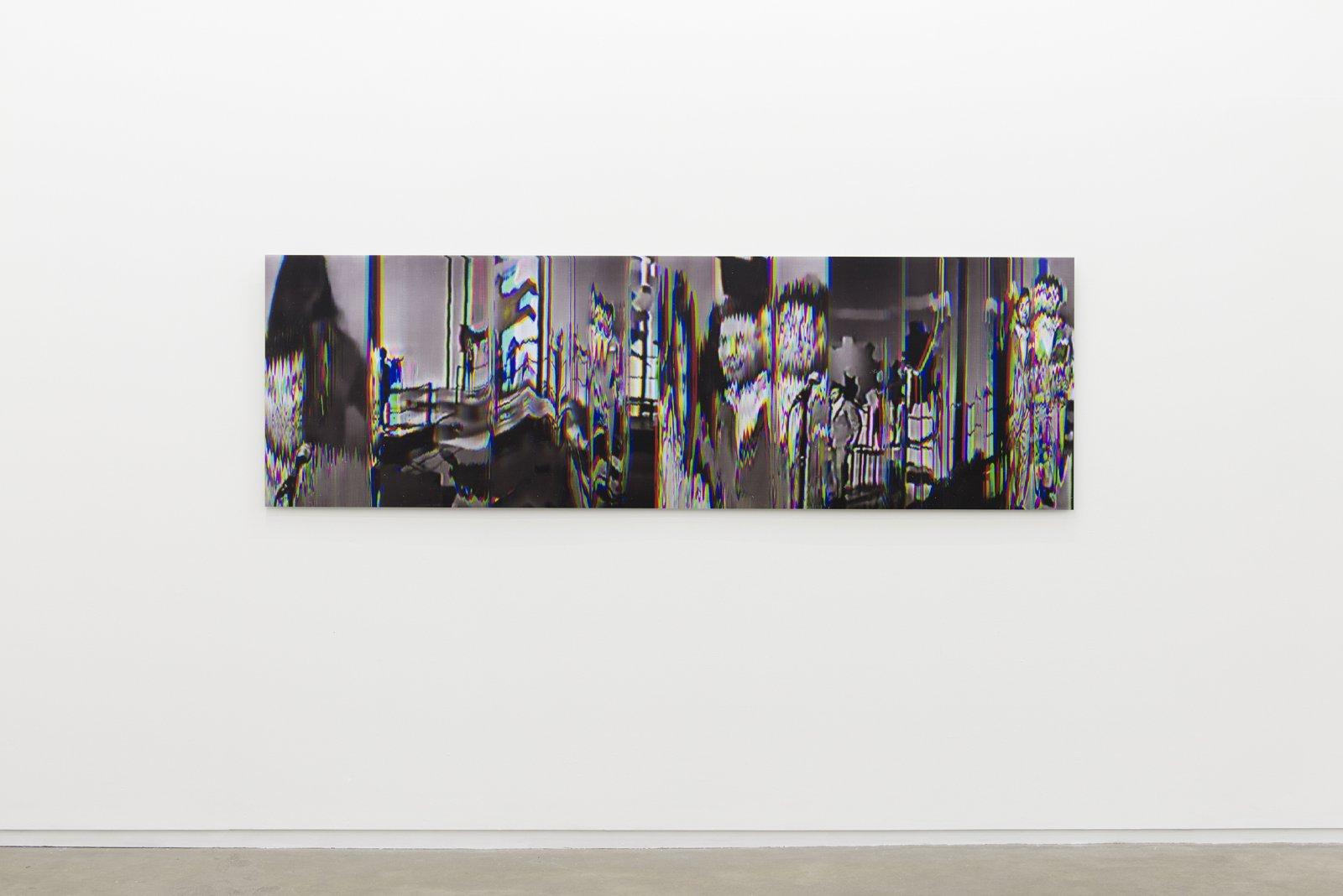 Raymond Boisjoly, Pat & Lolly Vegas (Interval: 1965/2013) Write Me, Baby 01, 2013, screen resolution lightjet print mounted on dibond, 30 x 96 in. (76 x 244 cm)  by Raymond Boisjoly