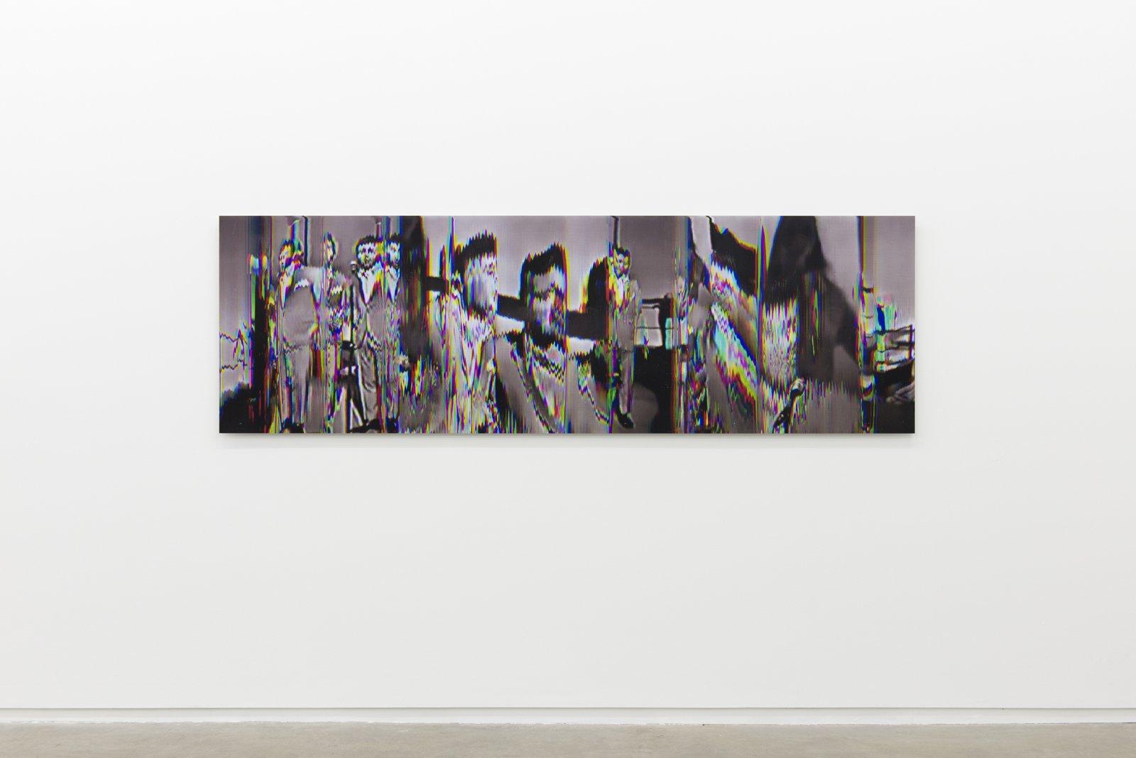 Raymond Boisjoly, Pat & Lolly Vegas (Interval: 1965/2013) Write Me, Baby 02, 2013, screen resolution lightjet print mounted on dibond, 30 x 96 in. (76 x 244 cm)  by Raymond Boisjoly