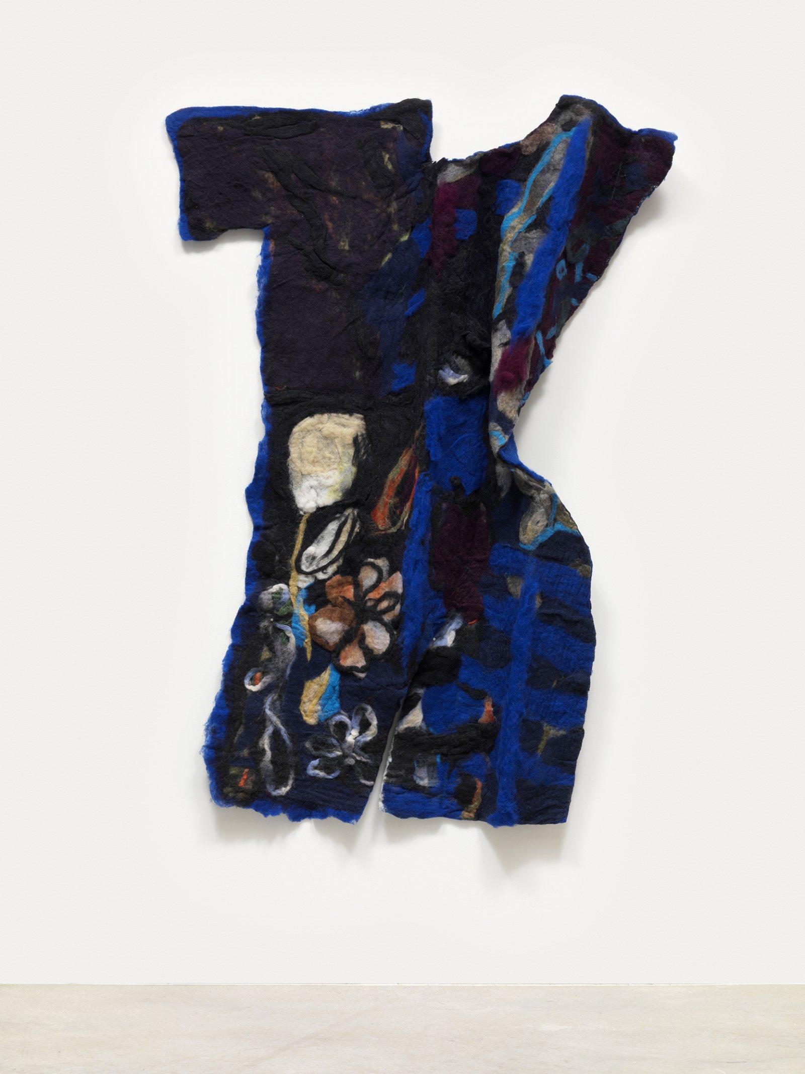 Rebecca Brewer,Balthus, 2016, wool felt, resin 42 x 35 in. (107 x 92 cm)