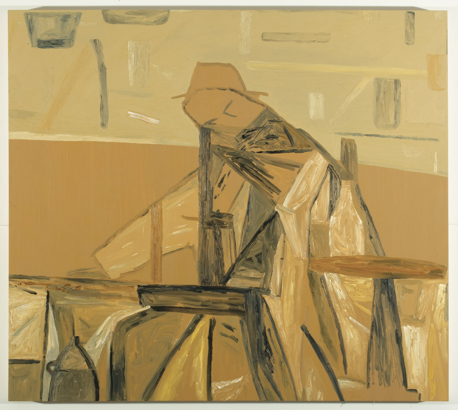 Rebecca Brewer, Beuys Painting, 2010, oil on panel, 42 x 47 in. (107 x 120 cm)