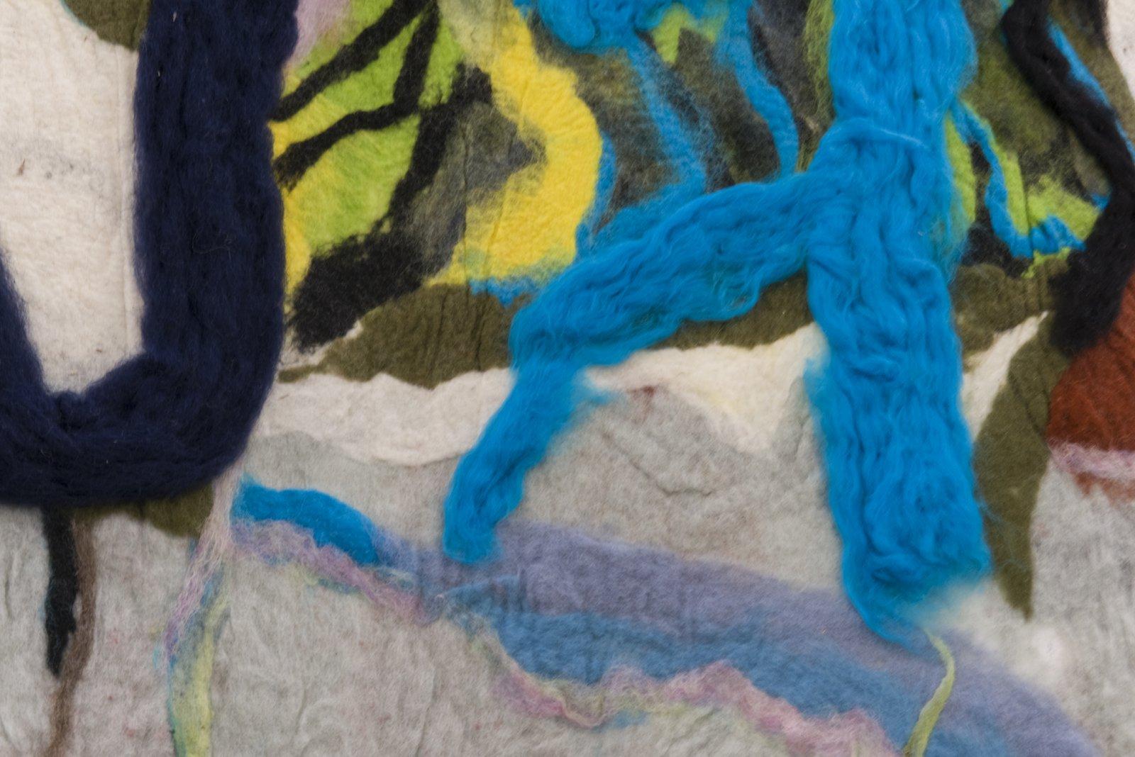 Rebecca Brewer, Bilitis (detail), 2016, wool felt, painted aluminum, 132 x 63 in. (335 x 160 cm) by Rebecca Brewer