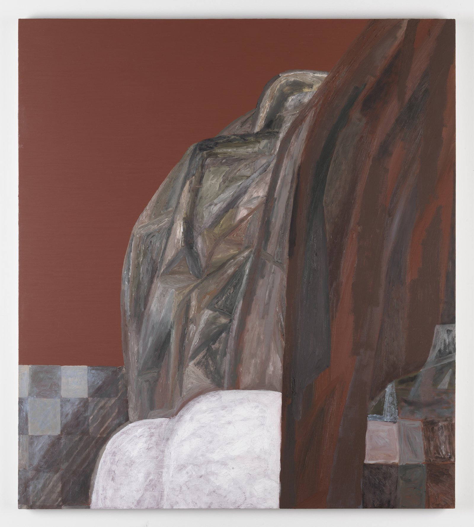 Rebecca Brewer, Curtain, 2011-2012, oil on panel, 47 x 42 in. (120 x 107 cm)