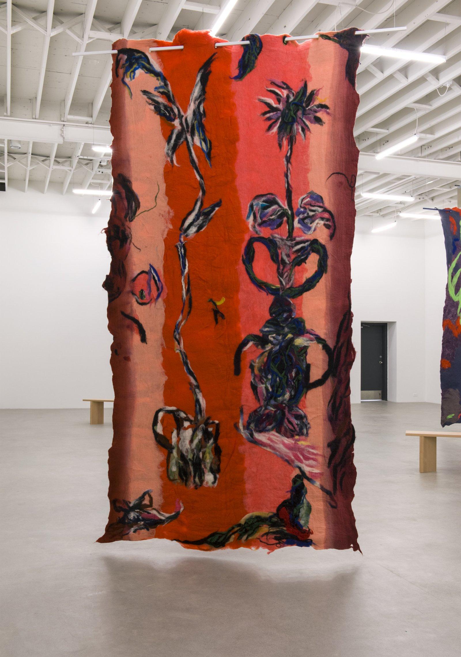 Rebecca Brewer, En F , 2016, wool felt, painted aluminum, 105 x 78 in. (266 x 198 cm) by Rebecca Brewer