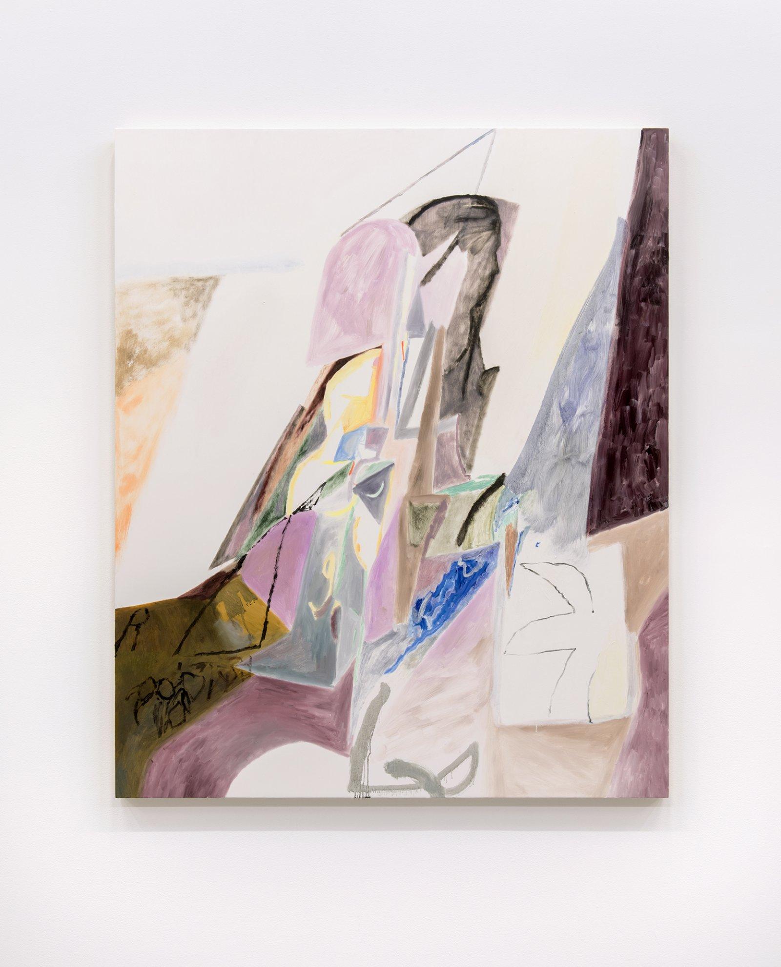Rebecca Brewer, Flat Flower, 2013, oil on panel, 57 x 47 in. (145 x 120 cm)