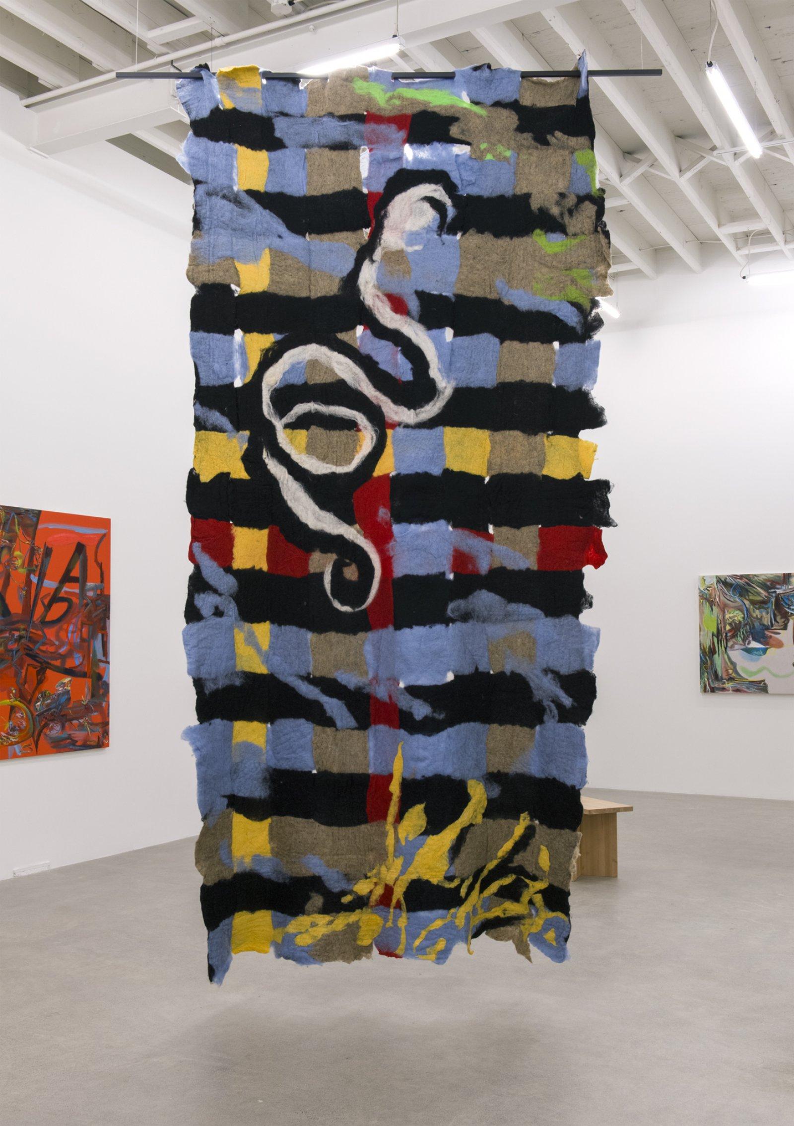 Rebecca Brewer, Inuus, 2016, wool felt, painted aluminum, 141 x 65 in. (358 x 165 cm) by Rebecca Brewer
