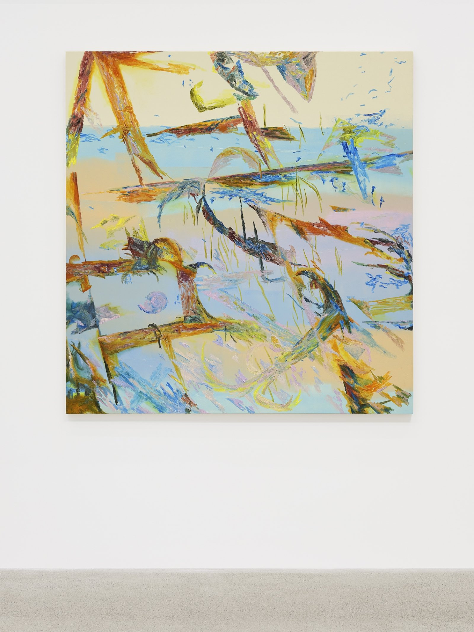 Rebecca Brewer, Makena Beach, 1984, 2019, oil on wood panel, 60 x 57 in. (152 x 145 cm)