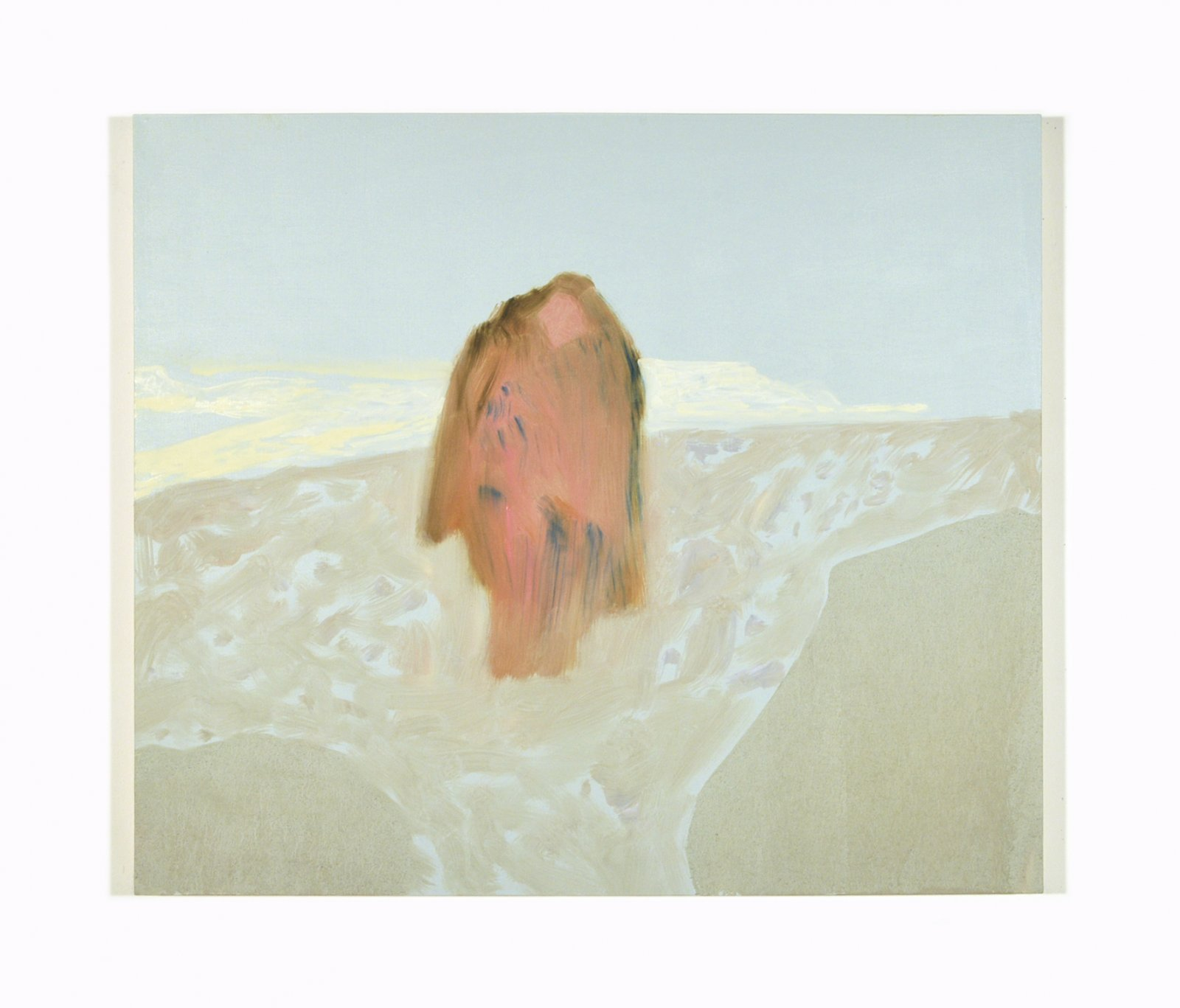 Rebecca Brewer,Making the Shift, 2008, oil on panel, 36 x 42 in. (91 x 107 cm)