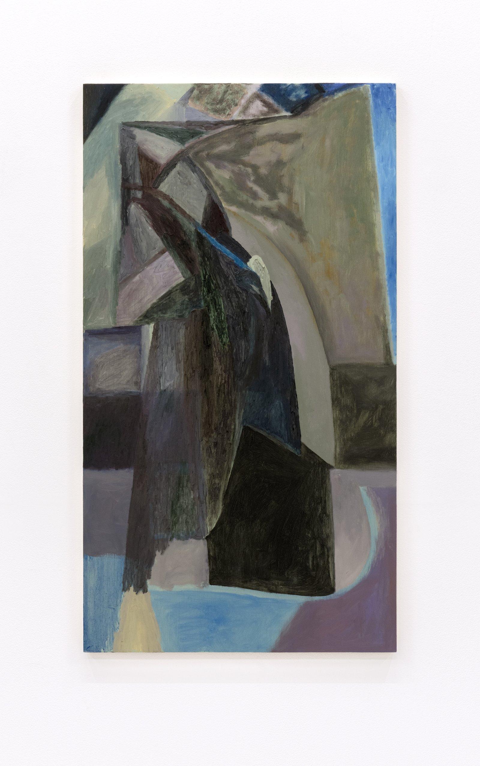 Rebecca Brewer, Remote Genre, 2012, oil on panel, 42 x 24 in. (107 x 60 cm)