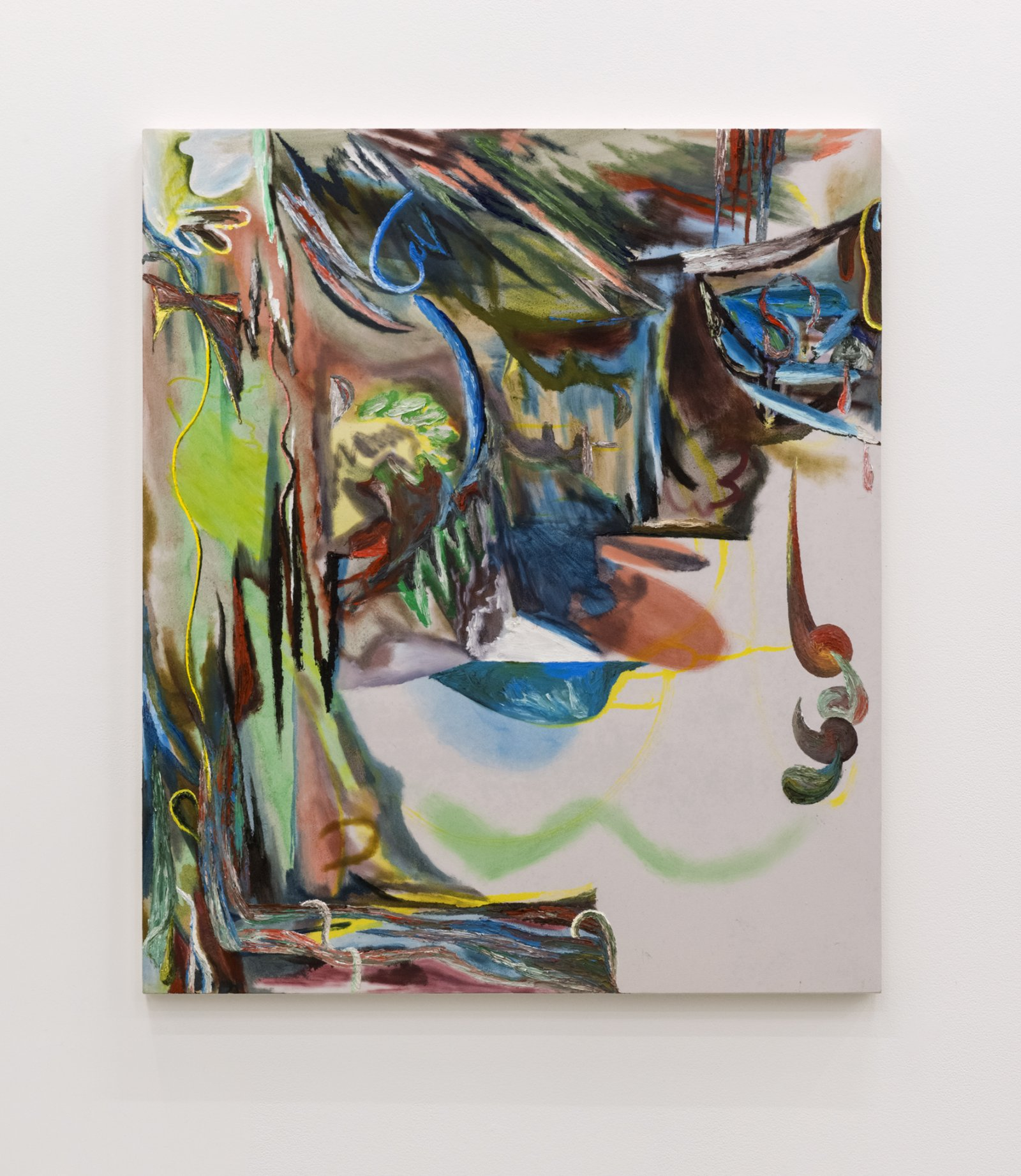 Rebecca Brewer, Smoke Show, 2016, oil on muslin on panel, 42 x 36 in. (107 x 92 cm)