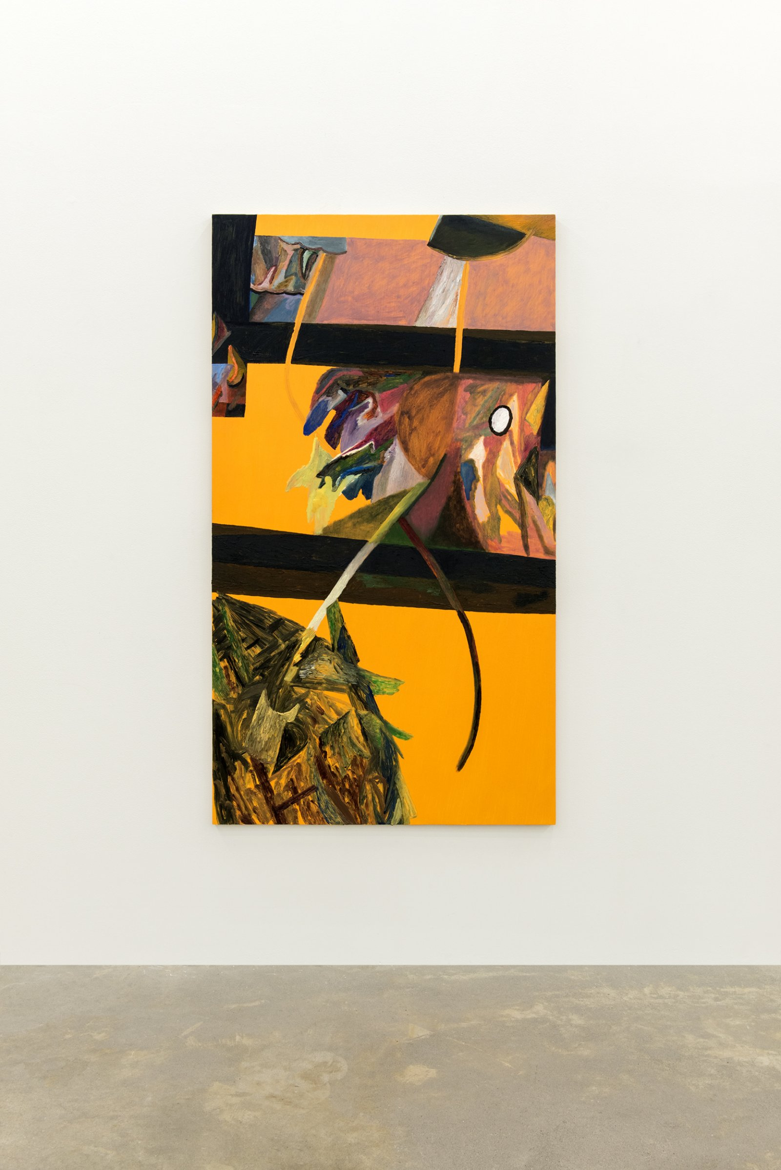 Rebecca Brewer, The Fence, 2014, oil on panel, 69 x 38 in. (174 x 97 cm) by Rebecca Brewer