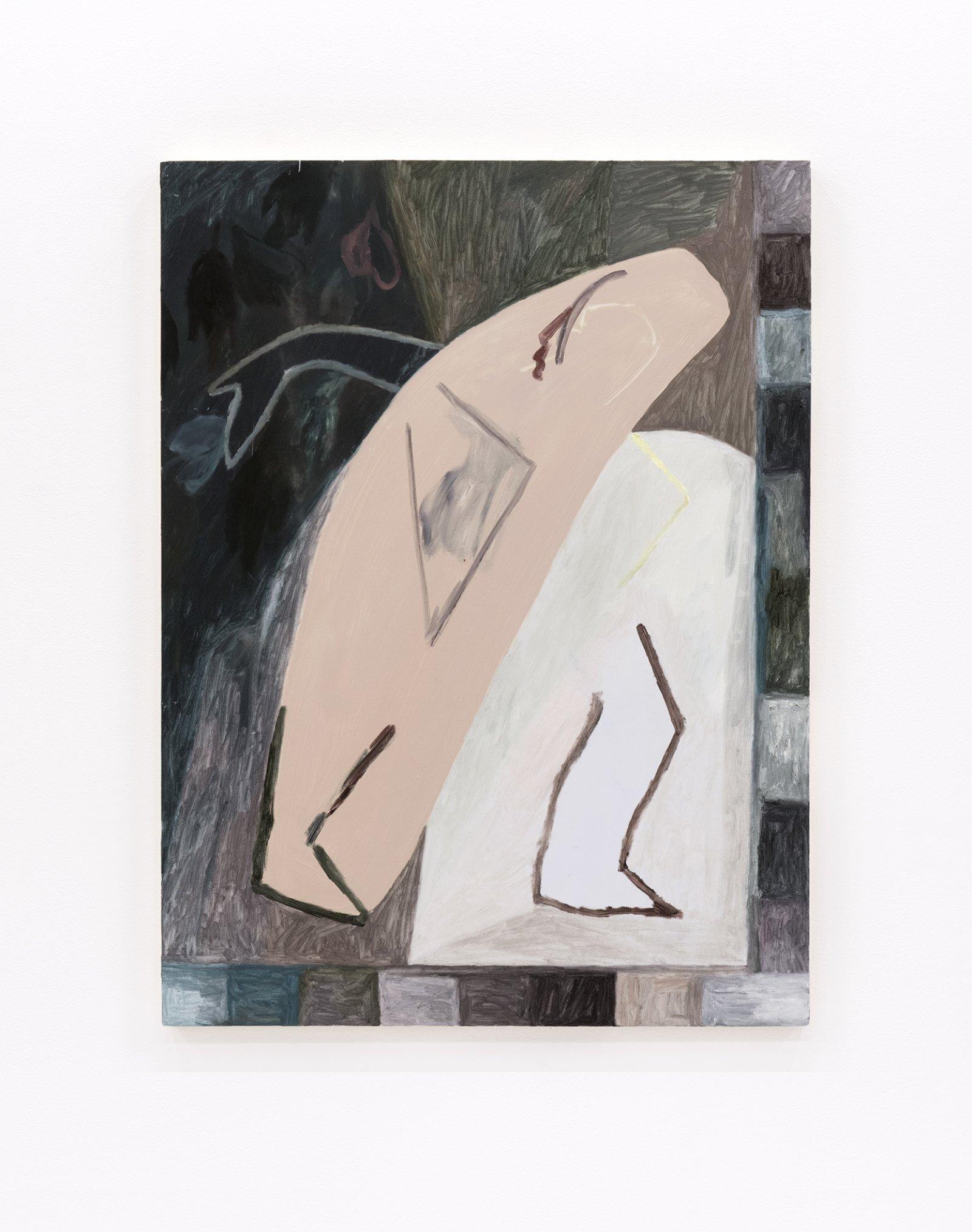Rebecca Brewer, The Improviser, 2012, oil on panel, 24 x 20 in. (61 x 51 cm)