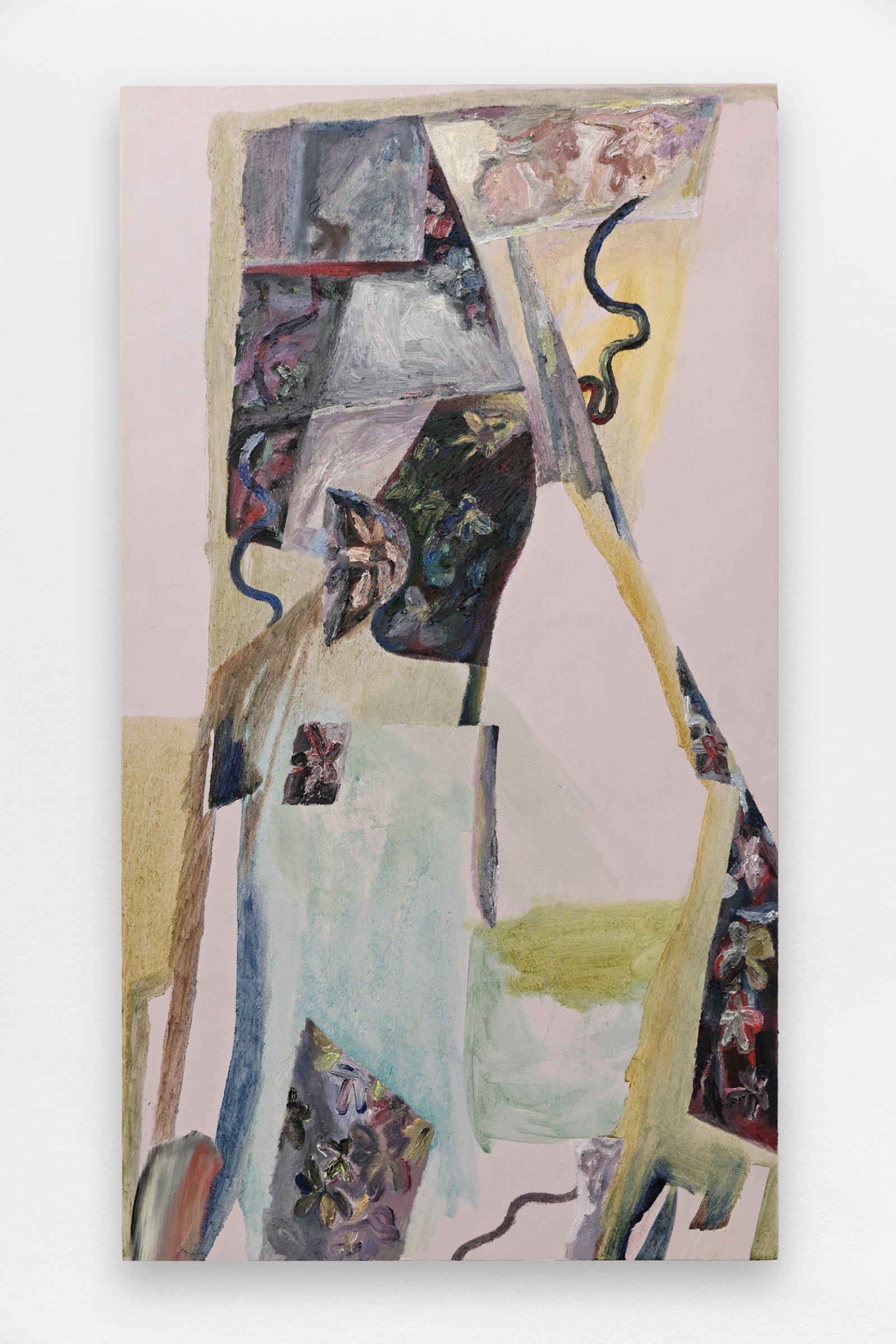 Rebecca Brewer, Vine Black, 2014, oil on panel, 42 x 24 in. (107 x 60 cm)
