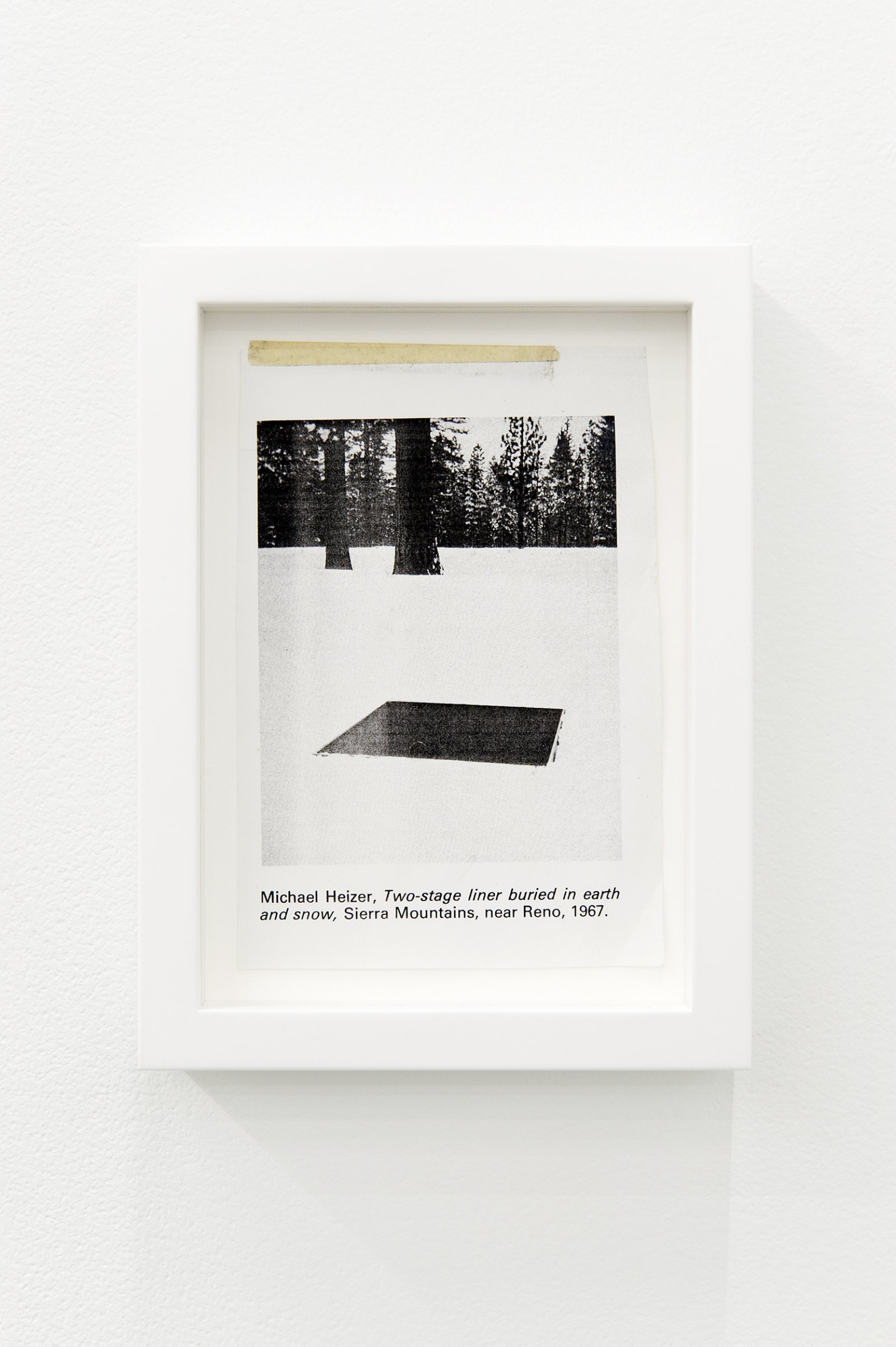 Arabella Campbell, A volume of a sculpture (detail), 2011, newsprint cutout, framed photocopy, 8 x 6 in. (20 x 15 cm)​ by