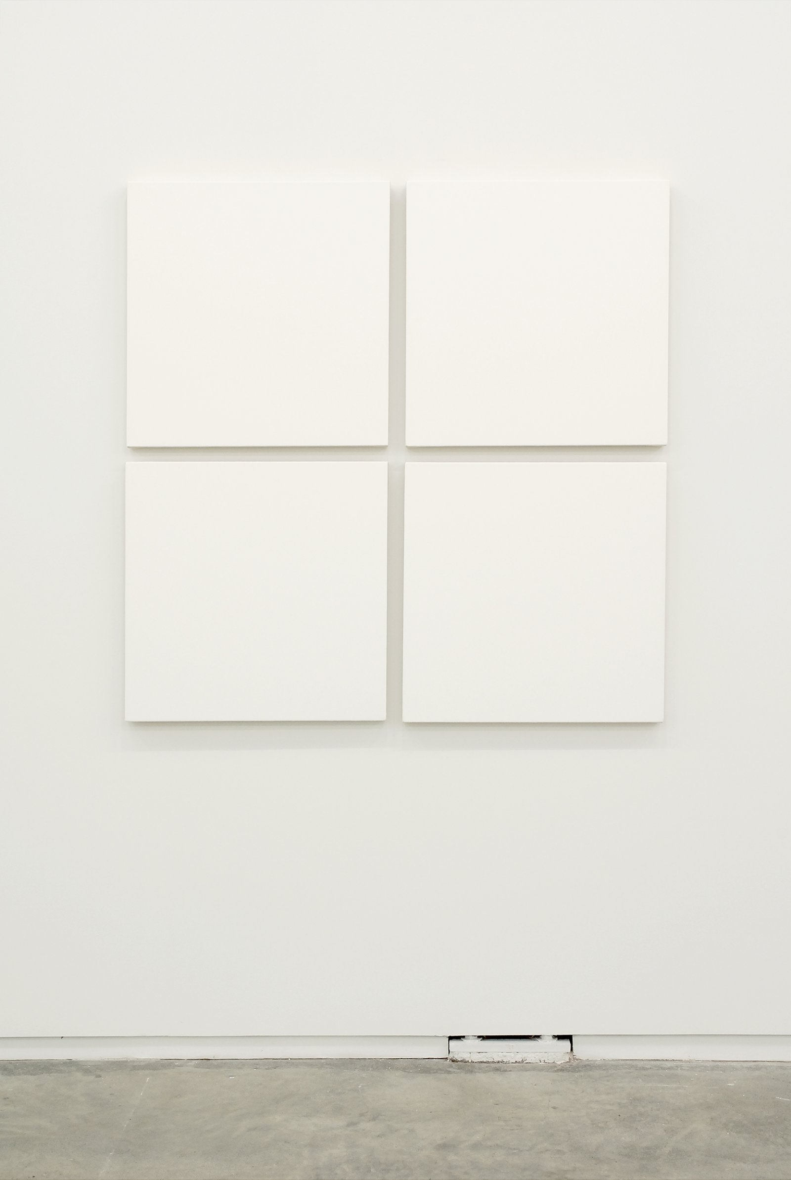​Arabella Campbell, Four Squares, 2007, acrylic on canvas, 49 x 49 in. (125 x 125 cm) by