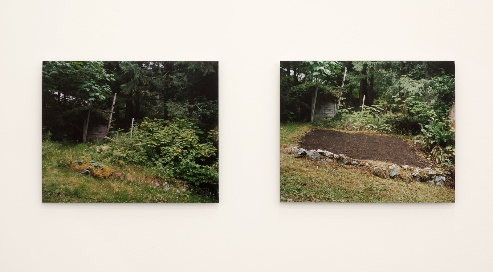 ​​Arabella Campbell, Generator Garden (before), Generator Garden (after), 2005, 2 c-prints on aluminum, each 13 x 16 in. (33 x 41 cm)​ by