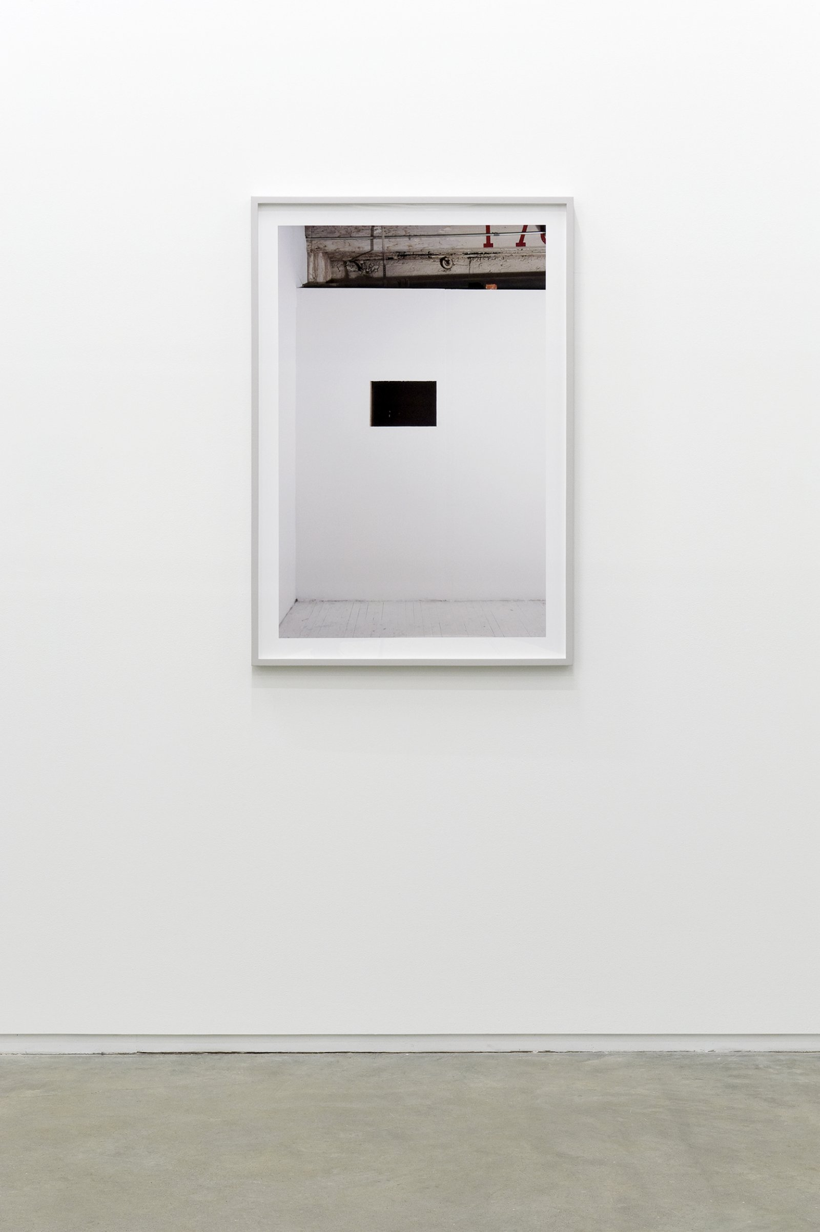 ​Arabella Campbell, Study of an object that appears, 2011, lightjet print of studio wall at 188 W 3rd Ave, Vancouver, 41 x 29 in. (104 x 73 cm) by