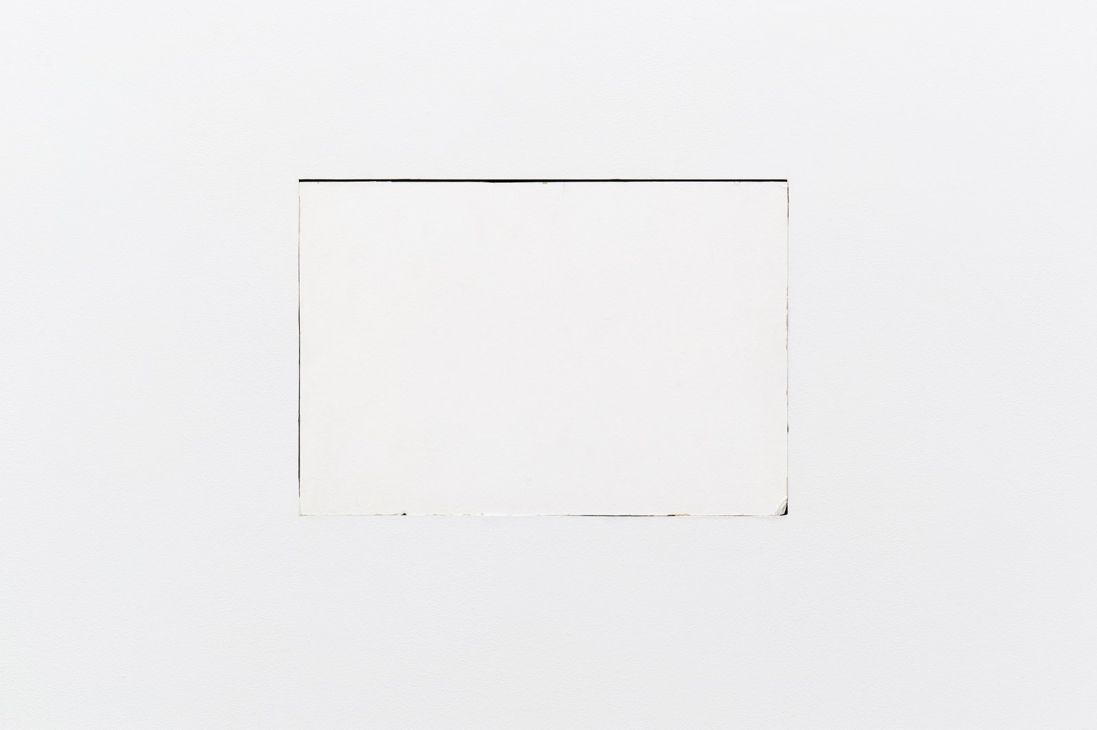 Arabella Campbell, Study for object that appears, 2009, drywall removed from artist's studio, 188 W 3rd Ave Vancouver and inserted into gallery wall, 14 x 21 in. (36 x 53 cm) by