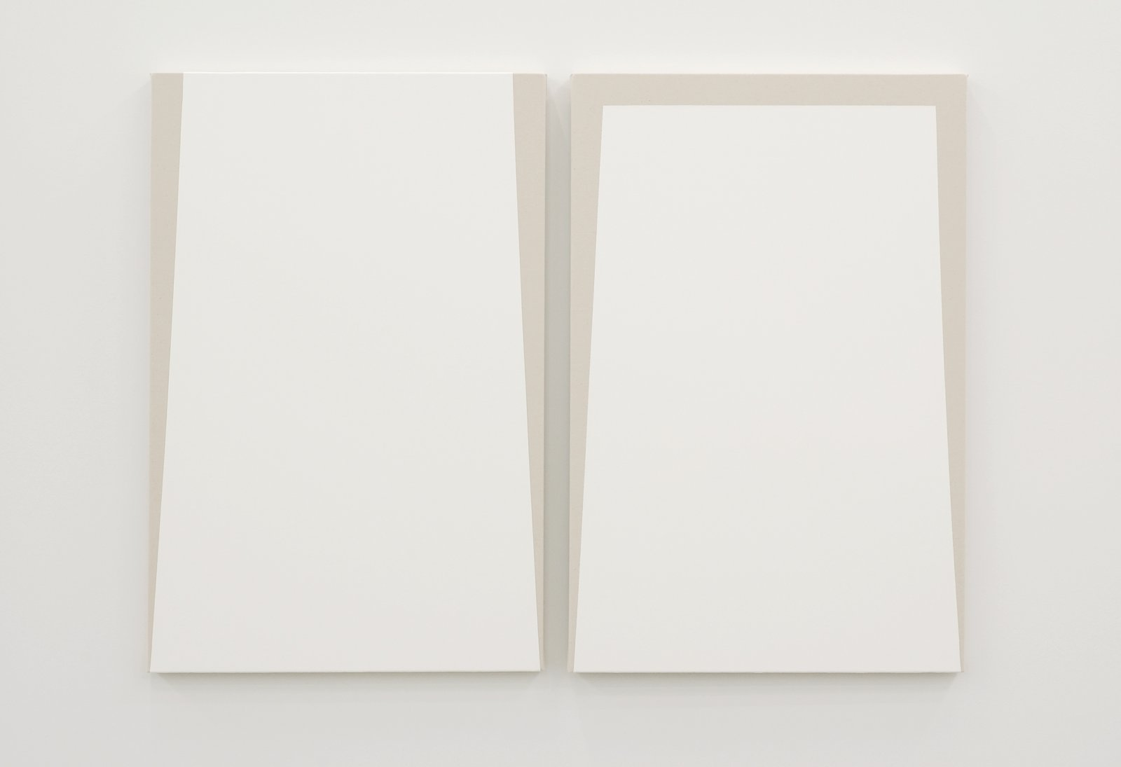 Arabella Campbell, Untitled, 2007, 2 acrylic on canvas paintings, each 36 x 24 in. (91 x 61 cm) by