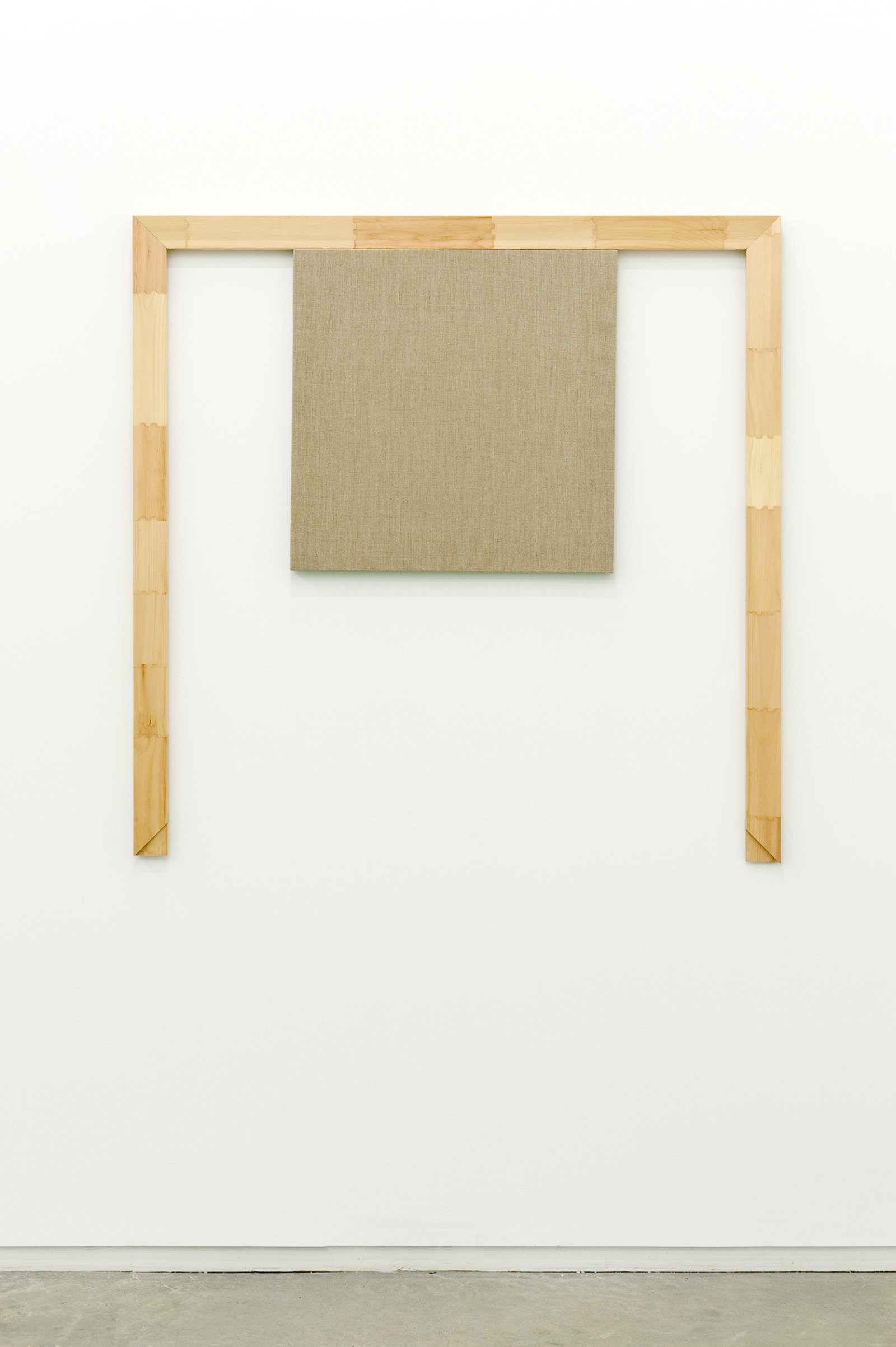 ​Arabella Campbell, We have pictures because we have walls, 2011, linen panel, stretcher bars, 48 x 48 x 1 (122 x 122 x 3 cm) by