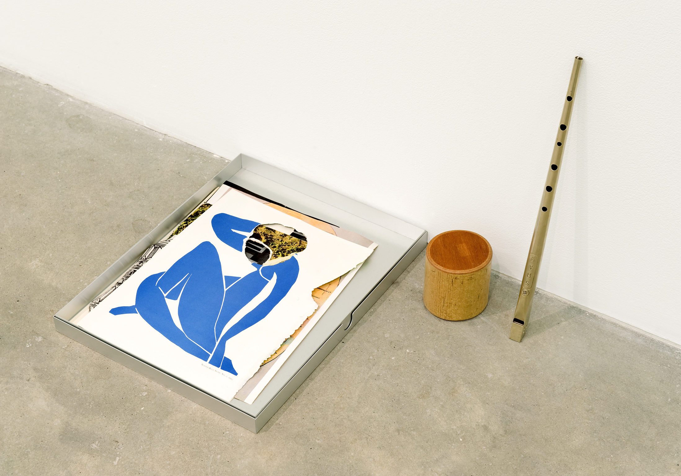 Geoffrey Farmer, Metal Will Stand Tall (A Single Image Is Not A Splendor) (detail), 2011, found metal, book cut outs, metal box, musical instruments, dimensions variable by