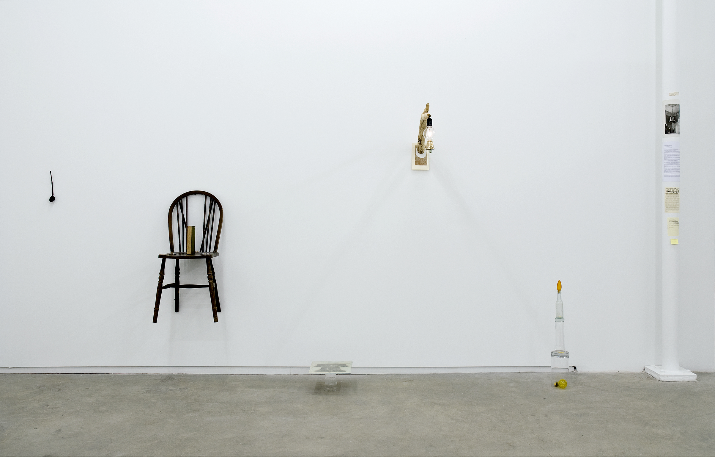 Geoffrey Farmer, I'm Not Praying I'm Just Stretching, 2009, mixed media, dimension variable by