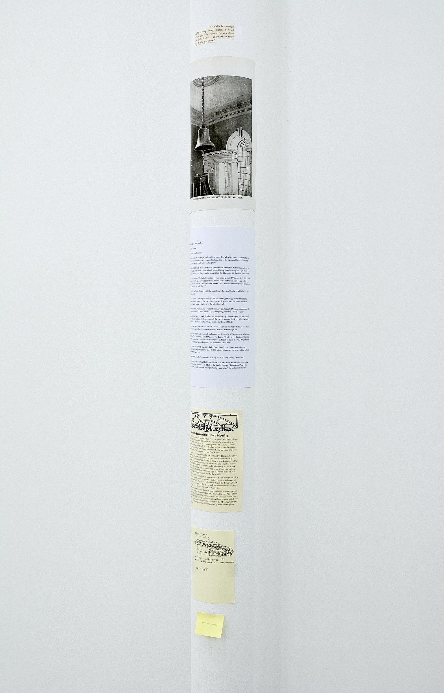 Geoffrey Farmer, I'm Not Praying I'm Just Stretching (detail), 2009, mixed media, dimension variable by
